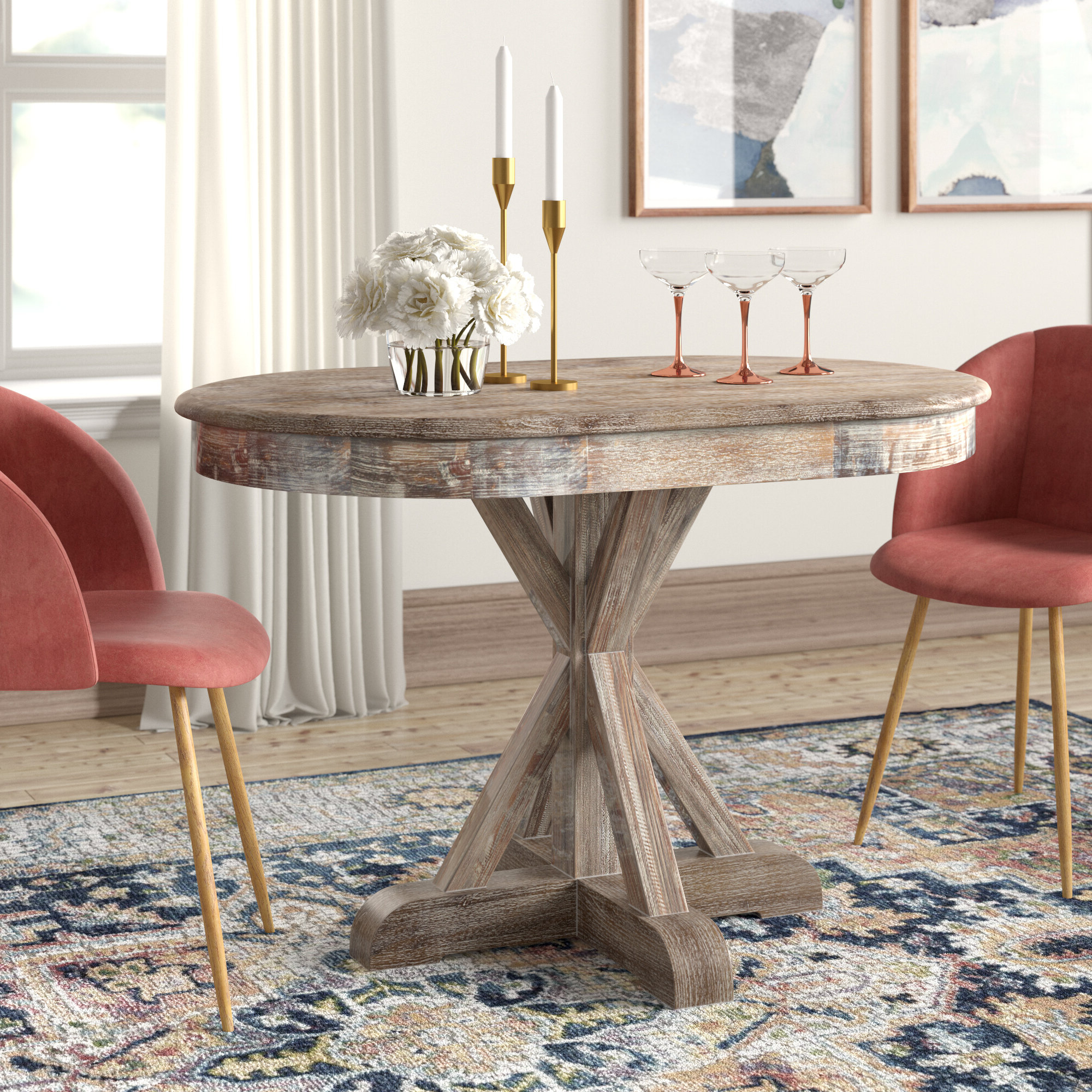 Linette 5 Piece Dining Table Sets With Fashionable Maryanne Oval Dining Table & Reviews (View 14 of 25)