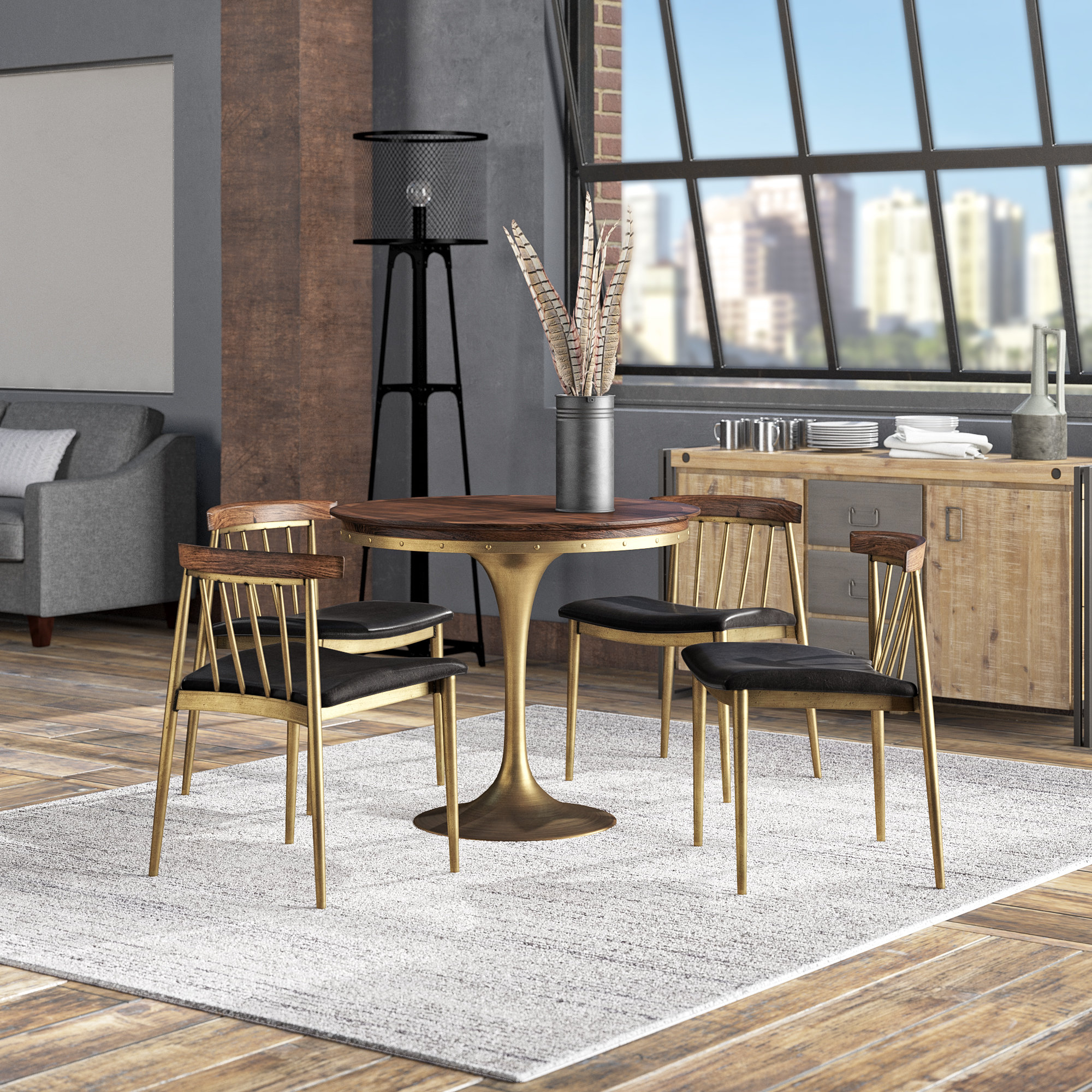 Loma Prieta 5 Piece Dining Set (View 11 of 25)