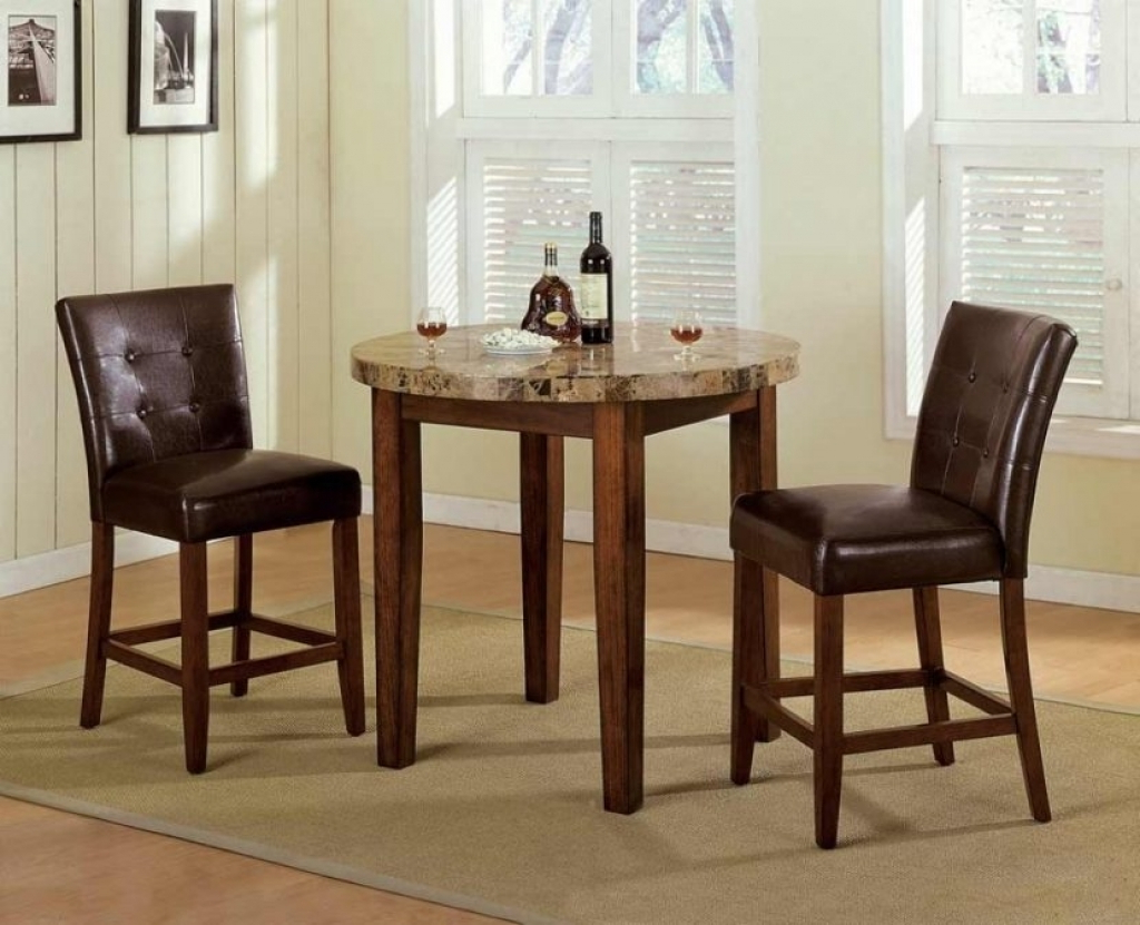 Lonon 3 Piece Dining Sets With Regard To Popular 3 Piece Round Dining Set (View 16 of 25)