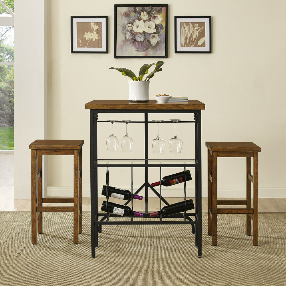 Loon Peak Ordway 3 Piece Dining Set (View 15 of 25)