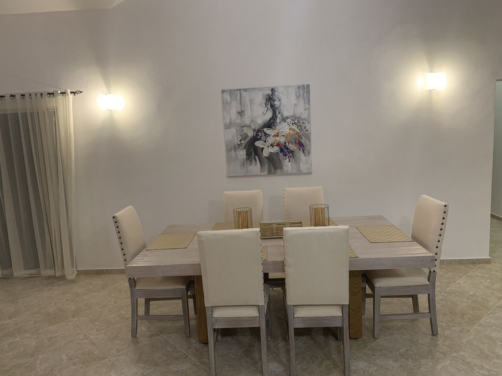 Luxury Sosua Villa 110 3Br 2B – Urbanizacion Tavarez With Regard To Most Recent Tavarez 5 Piece Dining Sets (View 17 of 25)