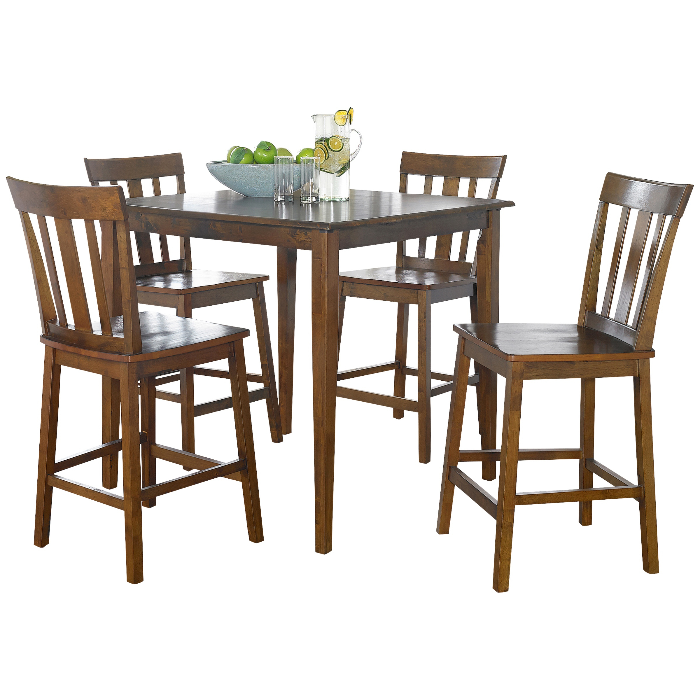 Mainstays 5 Piece Mission Counter Height Dining Set – Walmart With Regard To Recent Goodman 5 Piece Solid Wood Dining Sets (Set Of 5) (View 17 of 25)