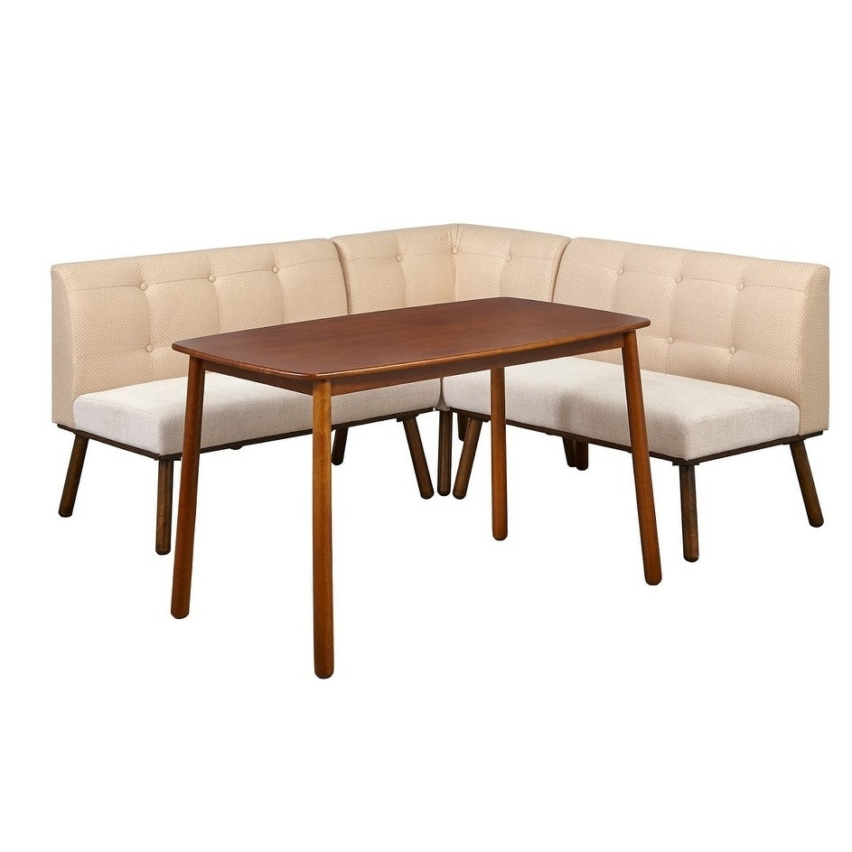 Maloney 3 Piece Breakfast Nook Dining Sets Throughout Well Known Shop Simple Living 4 Piece Playmate Nook Dining Set – On Sale – Free (View 9 of 25)