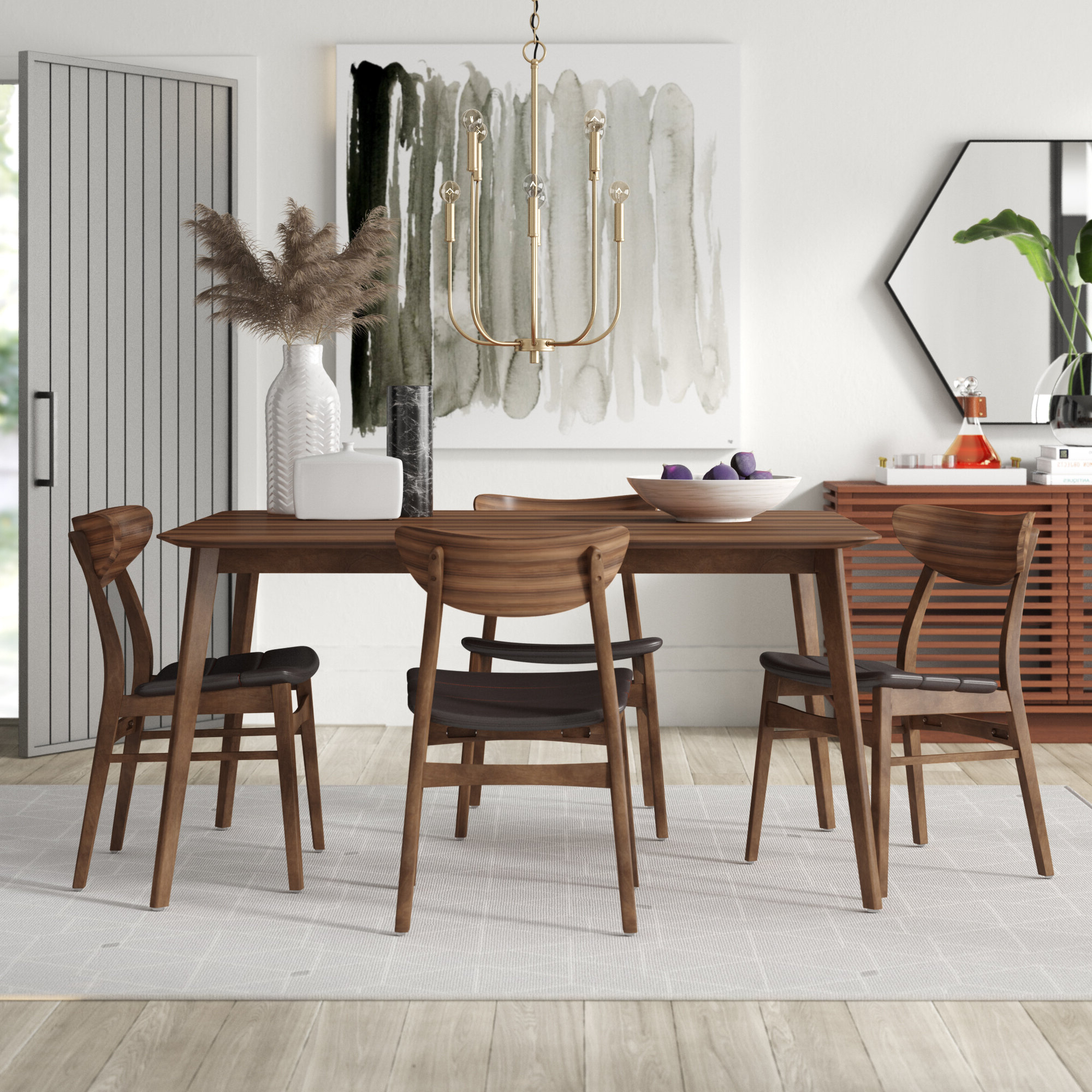 Mercury Row Lillis 5 Piece Dining Set & Reviews (View 4 of 25)