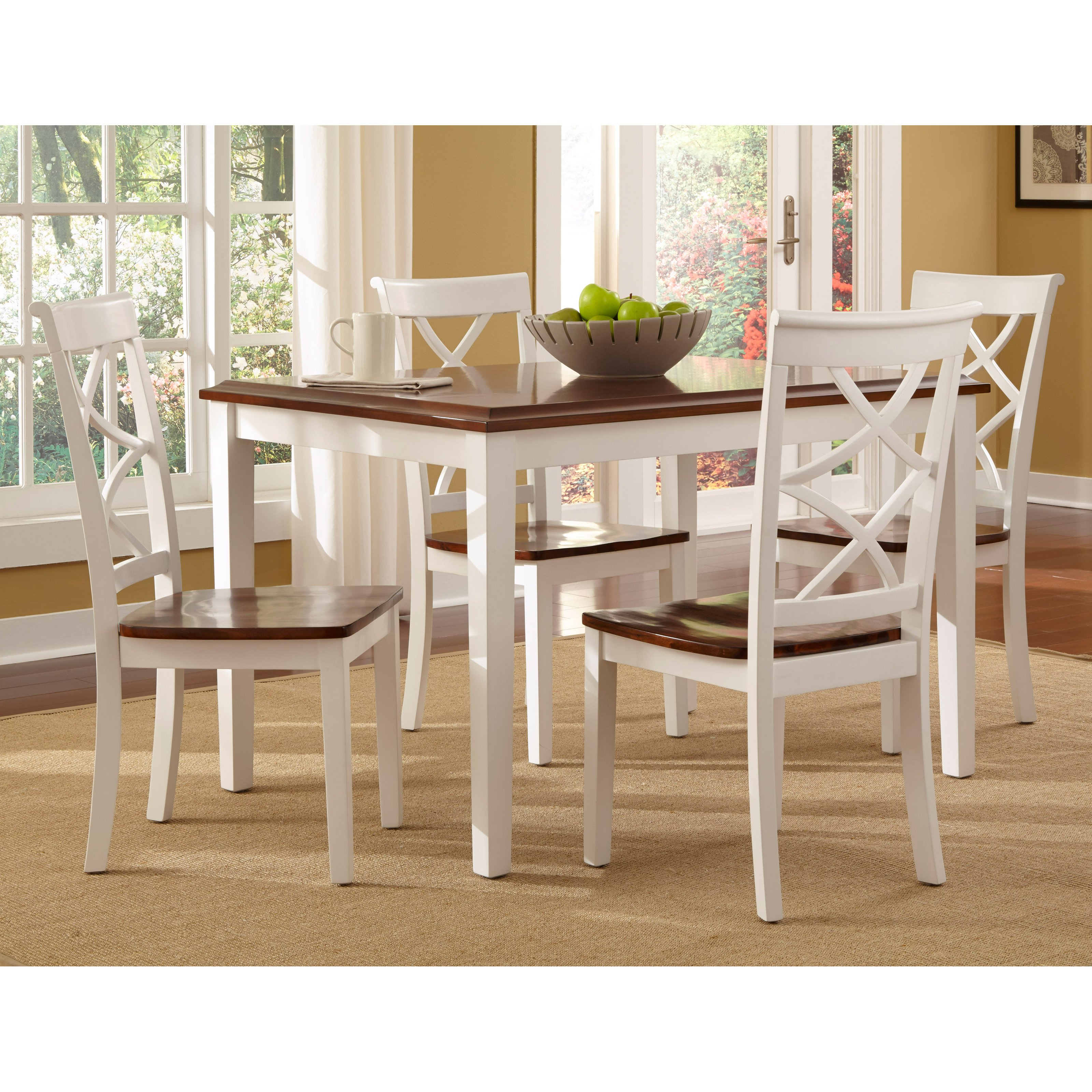 Metropolitan 3 Piece Dining Set, Multiple Finishes - Walmart with Widely used Rossiter 3 Piece Dining Sets