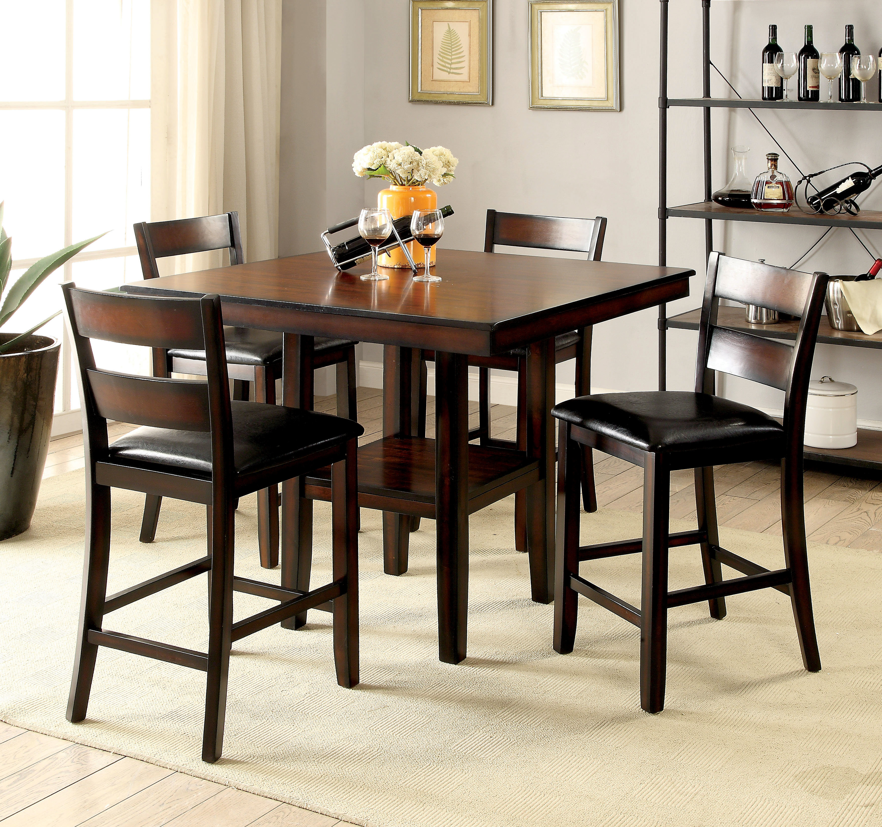 Middleport 5 Piece Dining Sets Inside Newest Red Barrel Studio Daphne 5 Piece Counter Height Dining Set & Reviews (View 17 of 25)