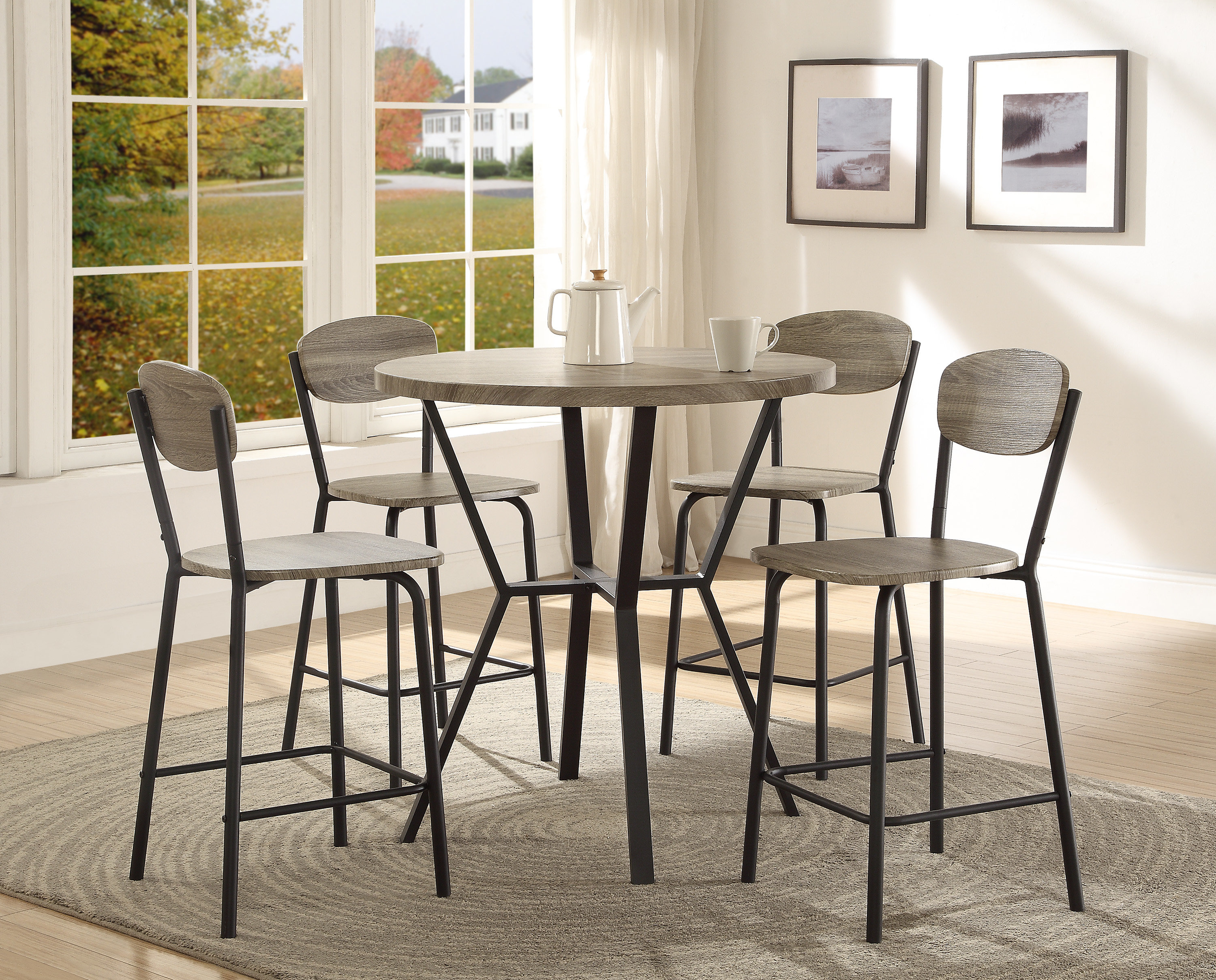 Millwood Pines Felicia 5 Piece Counter Height Dining Set & Reviews With Recent Middleport 5 Piece Dining Sets (View 5 of 25)