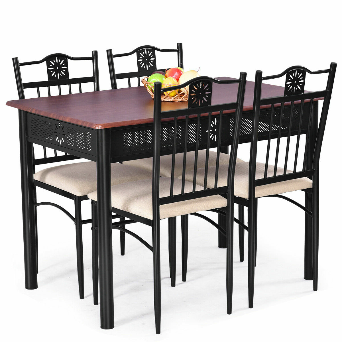 Miskell 3 Piece Dining Sets For Recent Winston Porter Ganya 5 Piece Dining Set & Reviews (View 6 of 25)