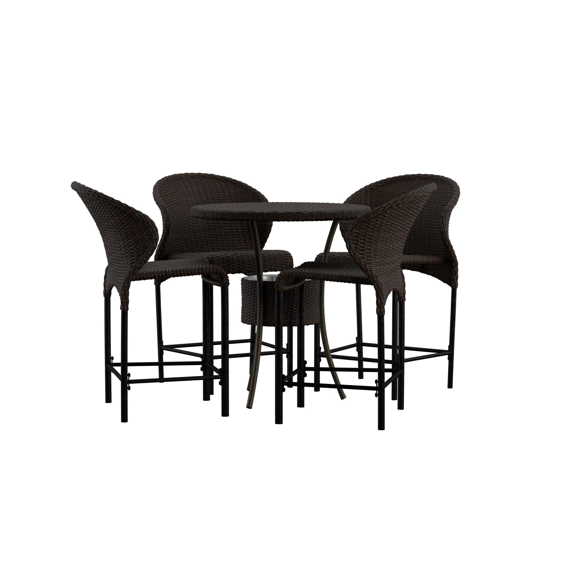Miskell 3 Piece Dining Sets Inside Newest Nicodemus 5 Piece Dining Set (View 7 of 25)