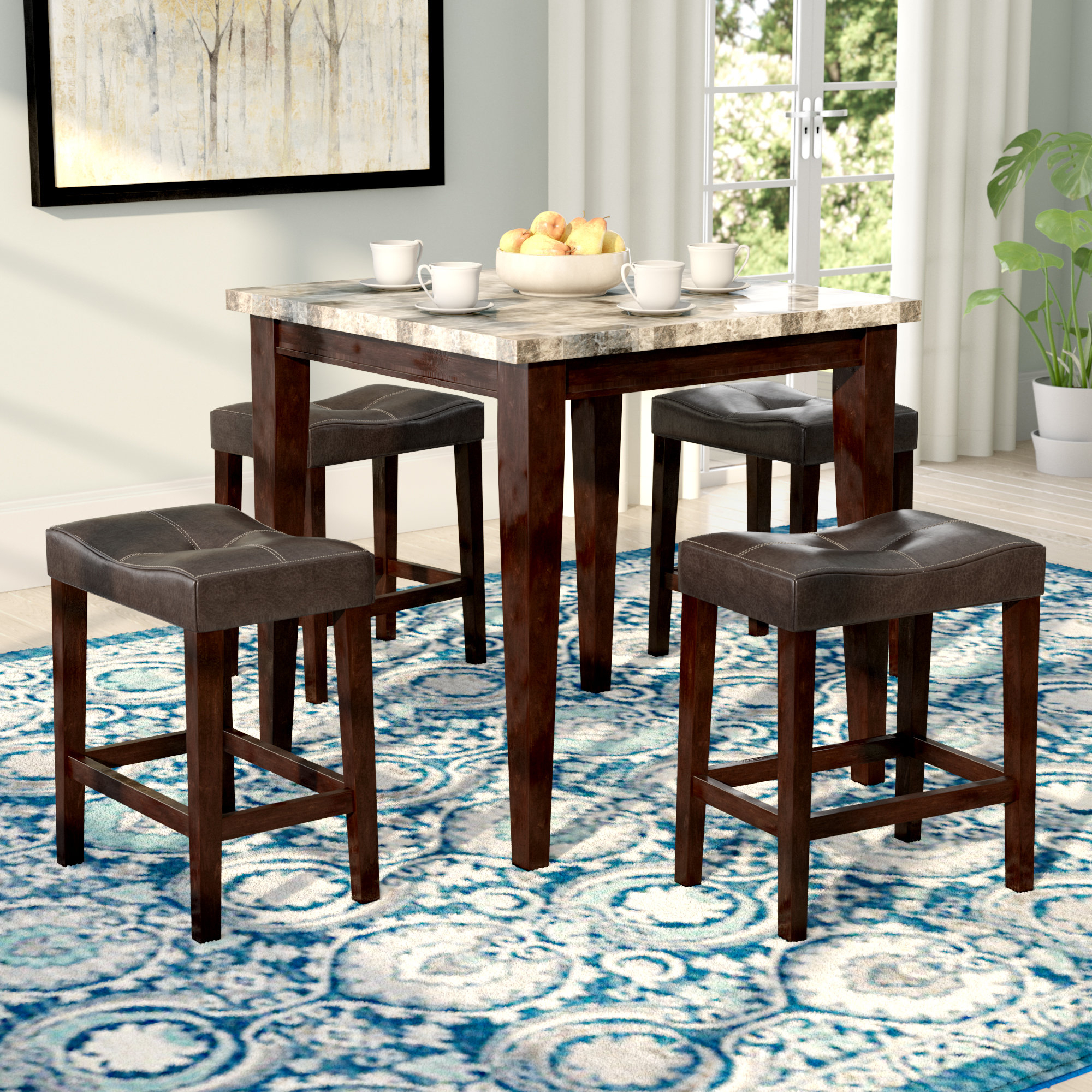 Miskell 5 Piece Dining Sets Pertaining To Most Current Andover Mills Aldama 5 Piece Pub Table Set & Reviews (View 25 of 25)