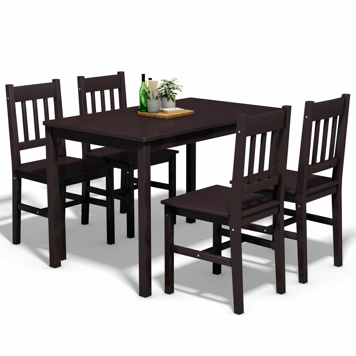 Miskell 5 Piece Dining Sets With Regard To Recent Winston Porter Sundberg 5 Piece Solid Wood Dining Set & Reviews (View 6 of 25)