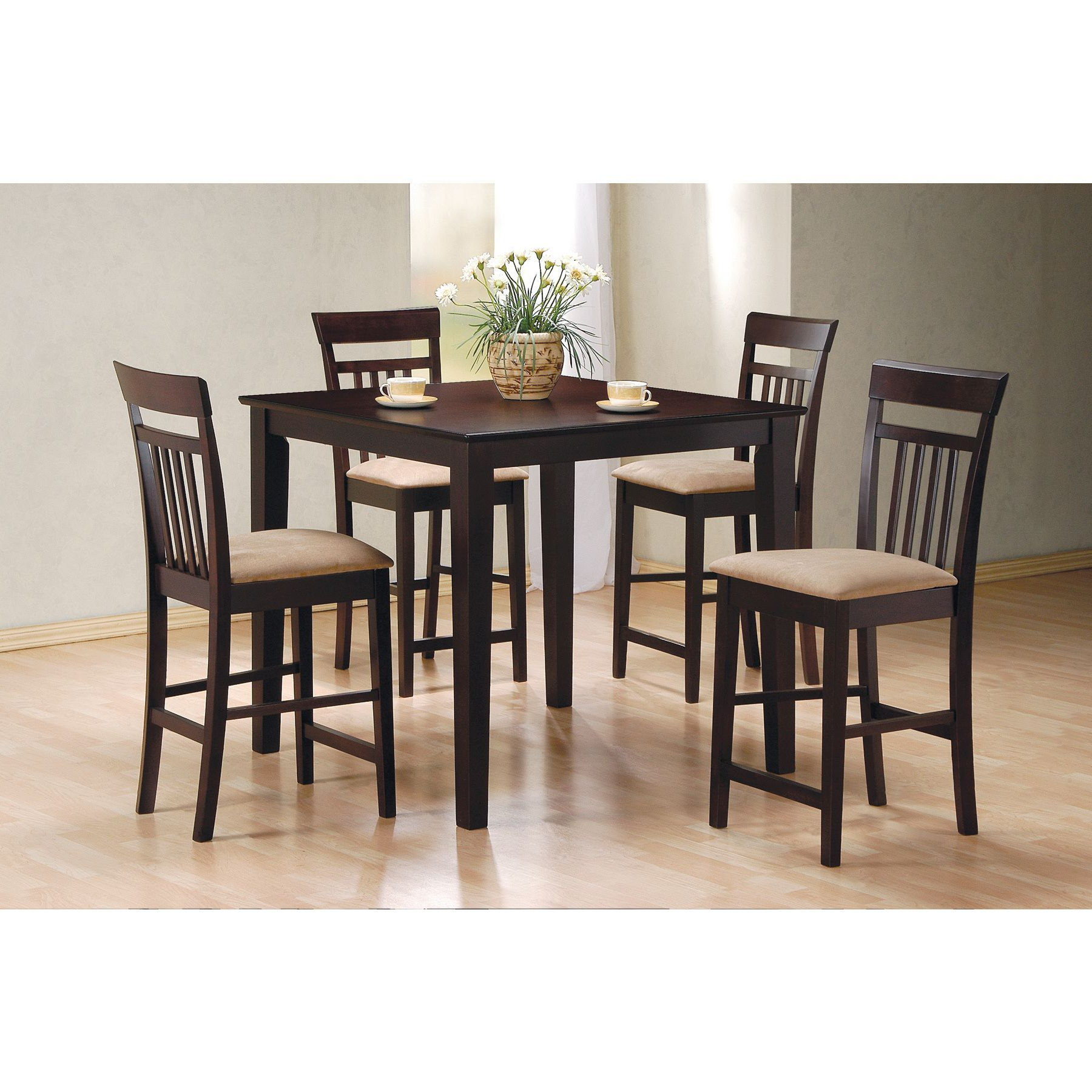 Miskell 5 Piece Dining Sets Within Latest Coaster Company Cappuccino 5 Piece Dining Set (Cappuccino Counter (View 8 of 25)