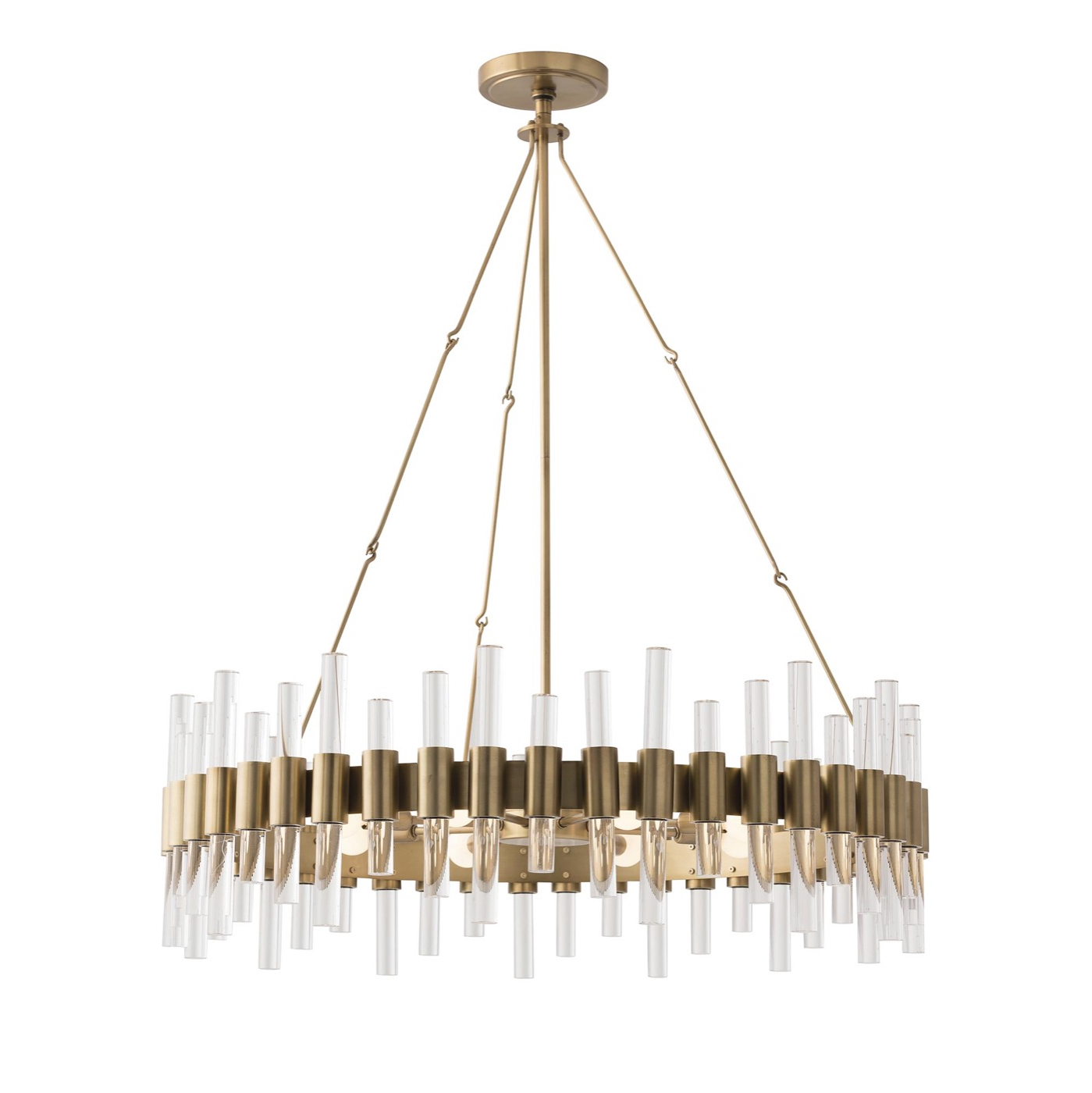 Miskell Brass & Lucite Grand Chandelier (View 18 of 25)