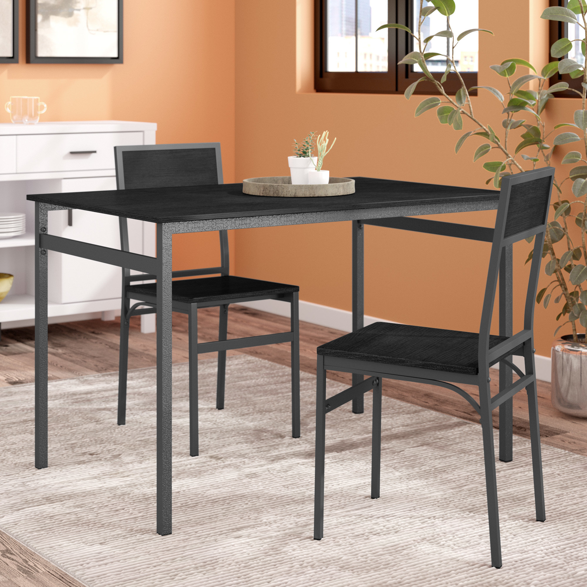 Mizpah 3 Piece Counter Height Dining Sets Inside Well Liked Latitude Run Springfield 3 Piece Dining Set & Reviews (View 12 of 25)
