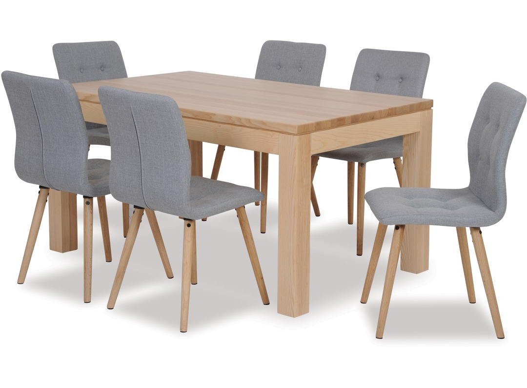 Modena Dining Table & Frida Chairs X 6 With Regard To Most Current Frida 3 Piece Dining Table Sets (View 7 of 25)