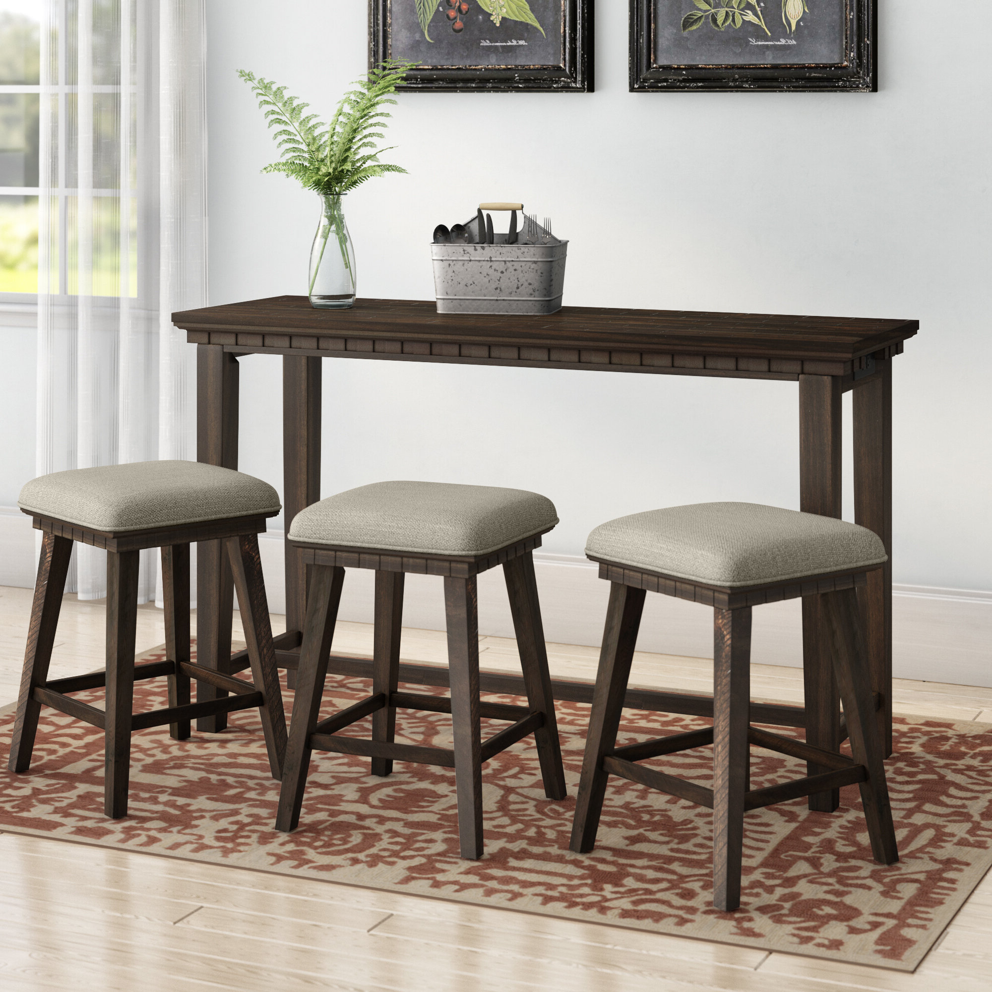 Most Current Tappahannock 3 Piece Counter Height Dining Sets Within Laurel Foundry Modern Farmhouse Suzann Multi Purpose 4 Piece Pub (View 17 of 25)