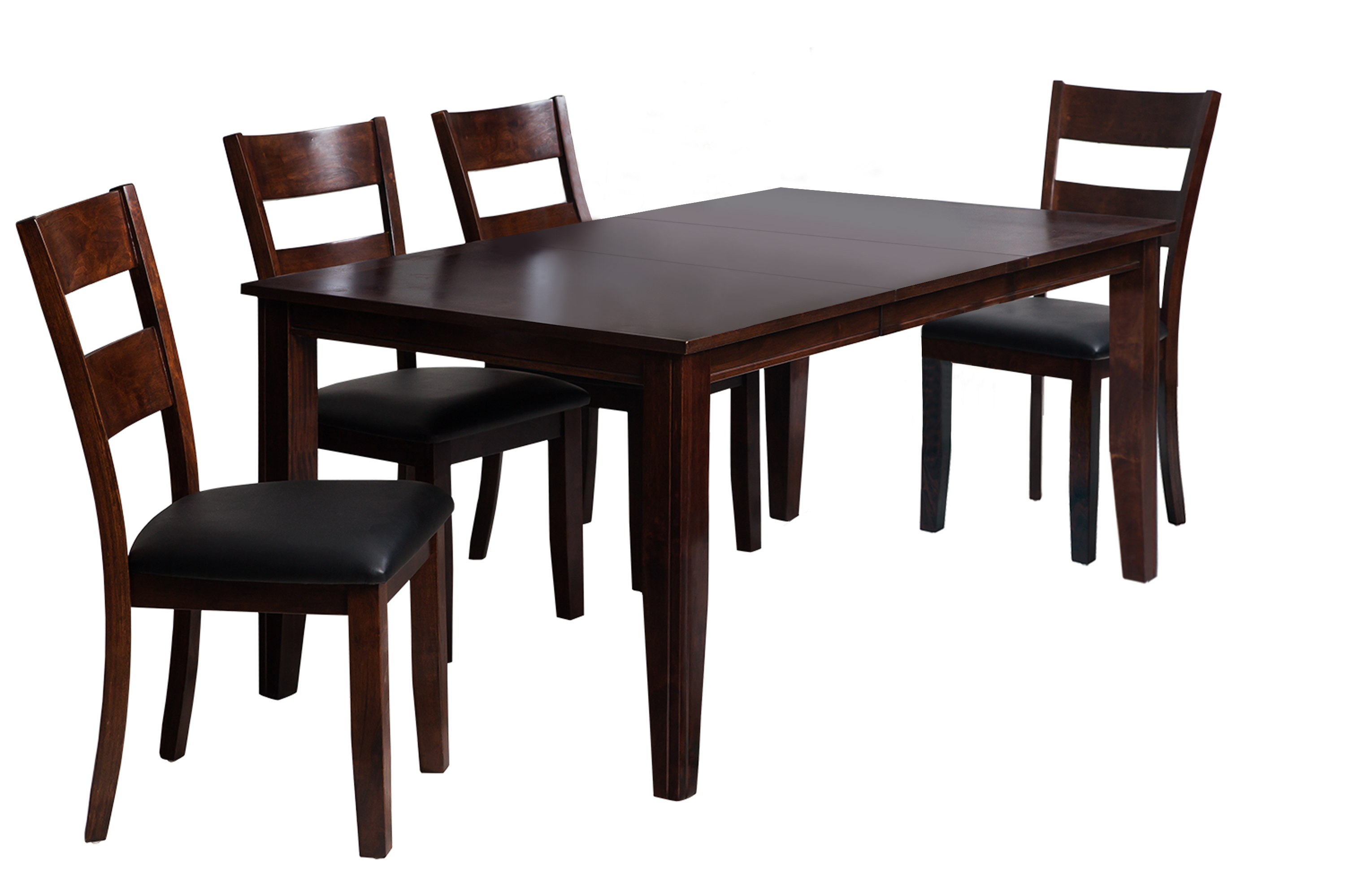 Most Current Ttp Furnish For Adan 5 Piece Solid Wood Dining Sets (Set Of 5) (View 17 of 25)