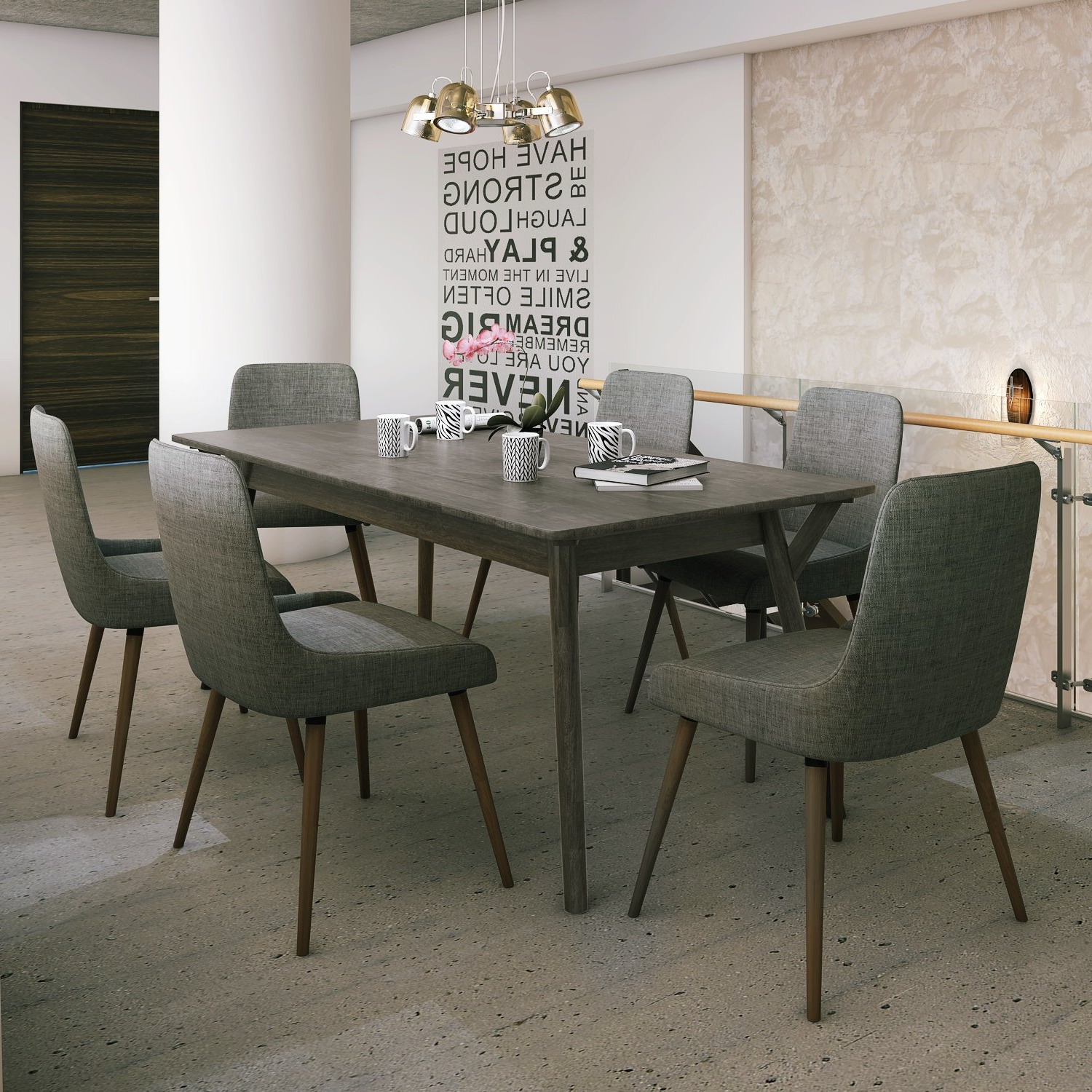 Most Popular Chelmsford 3 Piece Dining Sets Inside Latitude Run Chelmsford 7 Piece Solid Wood Dining Set (View 15 of 25)