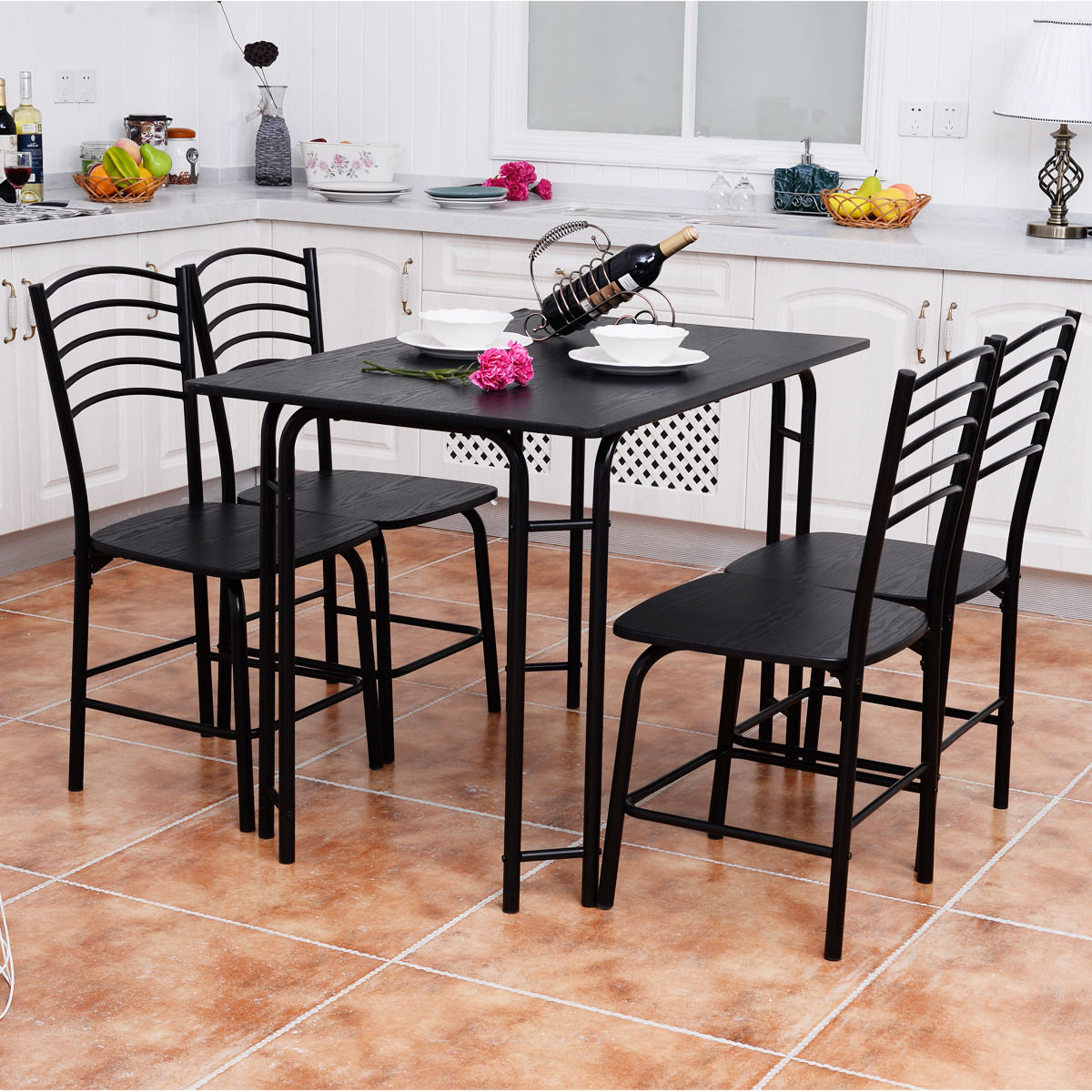 Most Popular Ephraim 5 Piece Dining Sets In Winston Porter Ephraim 5 Piece Dining Set  (View 14 of 25)