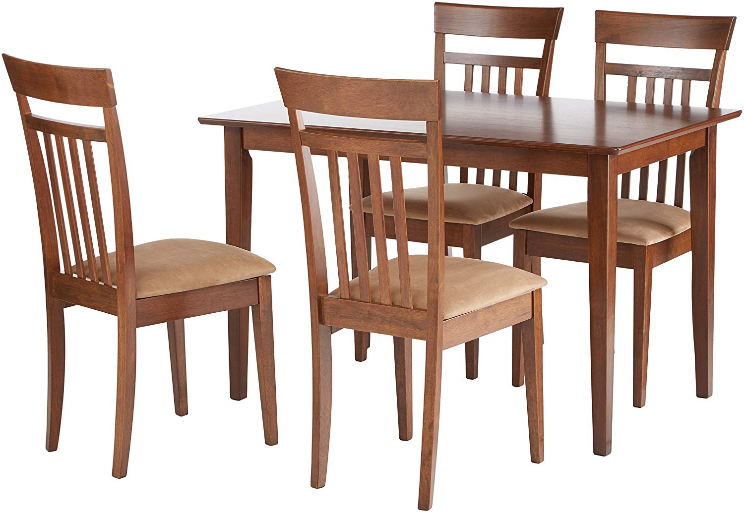Most Popular Kieffer 5 Piece Dining Sets Within Amazon – Coaster 150430Ii Co 150430 5 Pc Dining Set, Walnut (View 14 of 25)