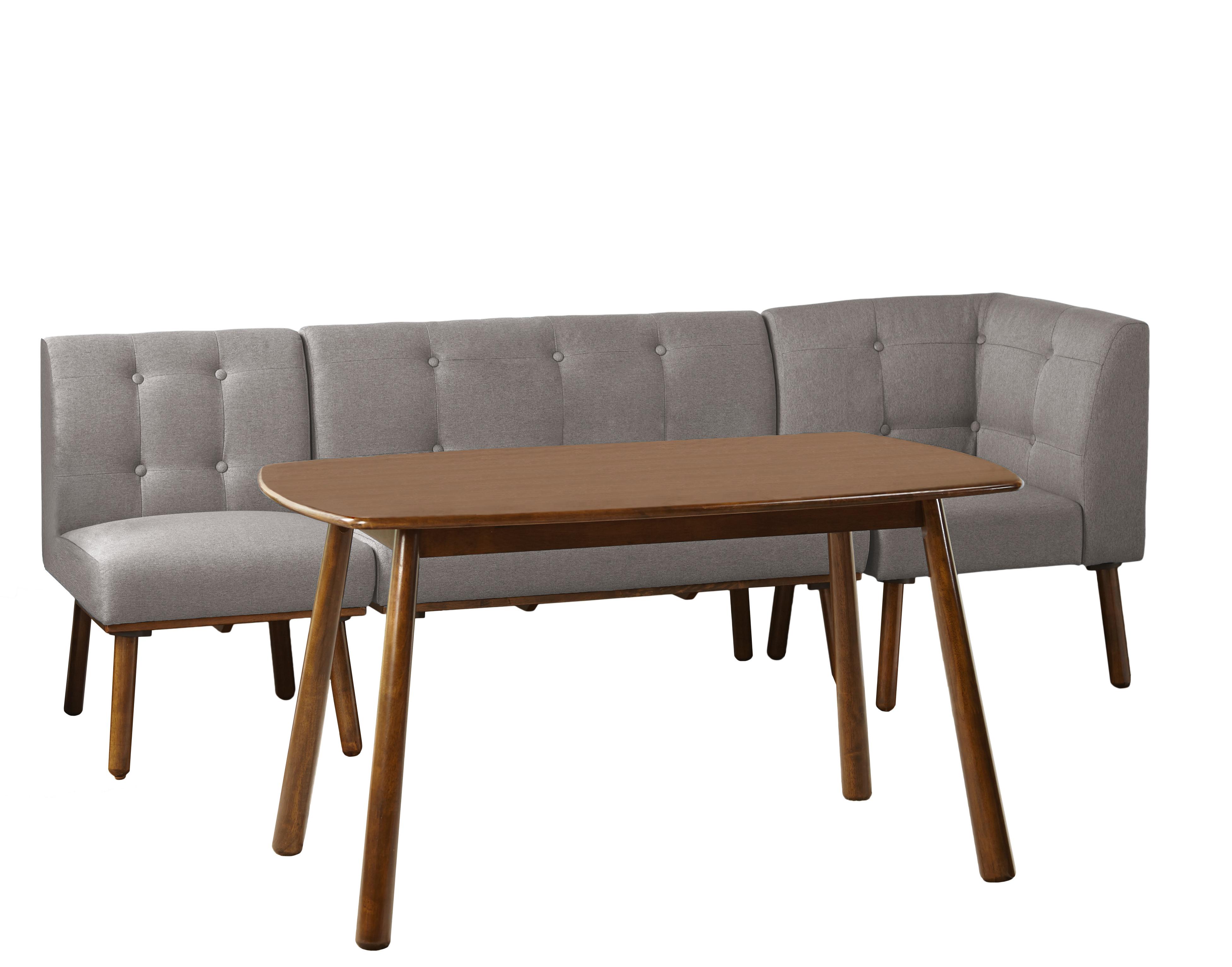Most Popular Lillard 3 Piece Breakfast Nook Dining Sets With Bucci 4 Piece Breakfast Nook Dining Set (View 15 of 25)