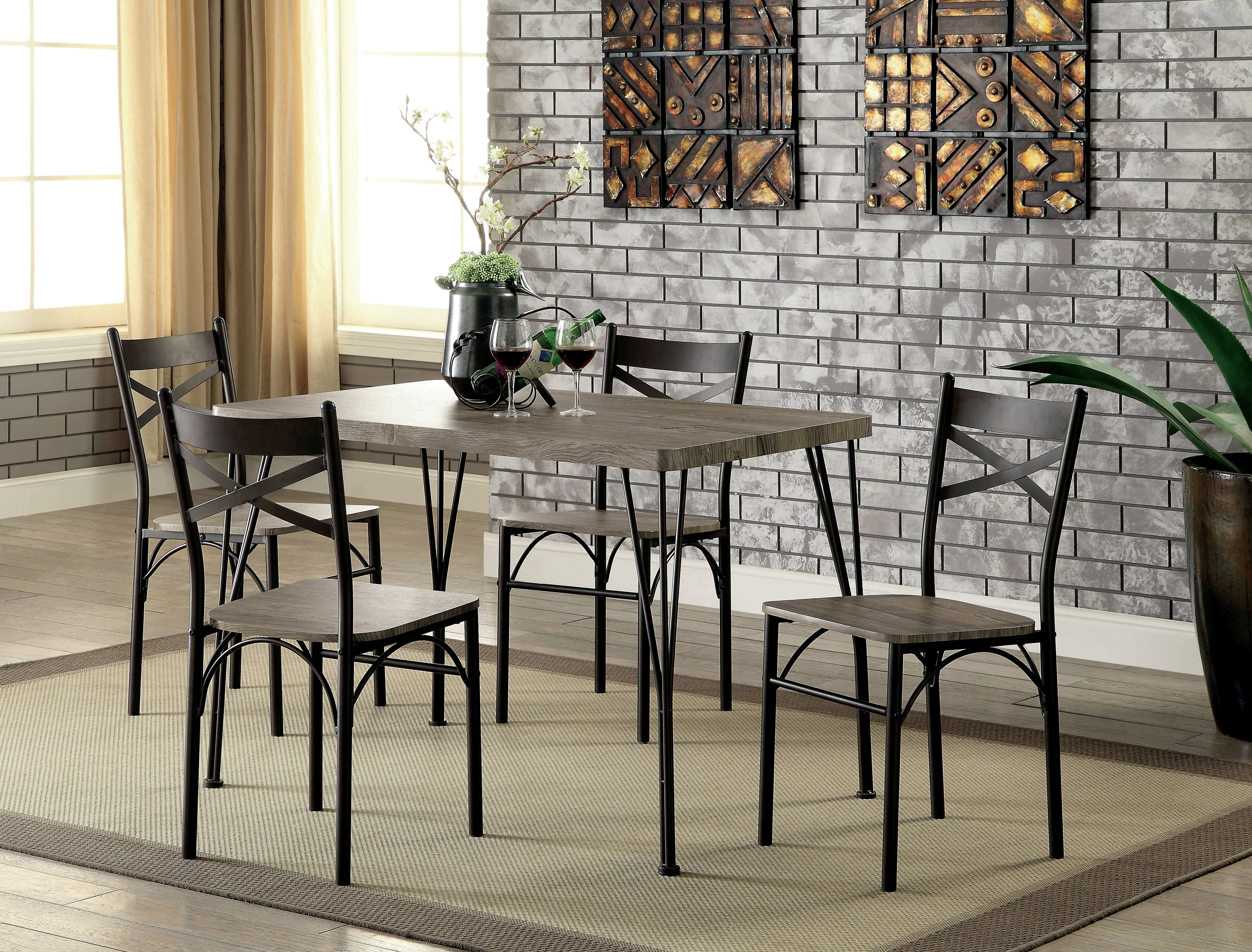 Most Popular Middleport 5 Piece Dining Sets With Regard To Andover Mills Middleport 5 Piece Dining Set & Reviews (View 2 of 25)