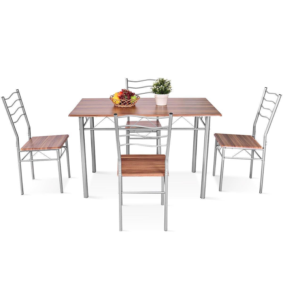 Most Popular Miskell 3 Piece Dining Sets Inside Winston Porter Miskell 5 Piece Dining Set (View 7 of 25)