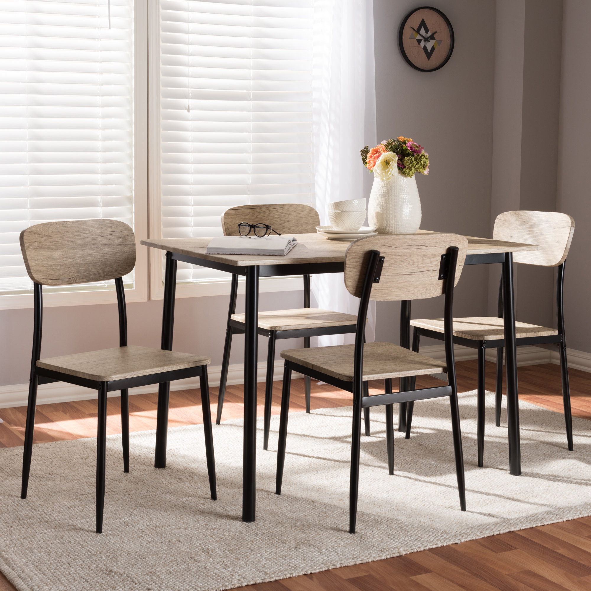 Most Popular Wiggs 5 Piece Dining Sets Within Wiggs 5 Piece Dining Set (View 2 of 25)