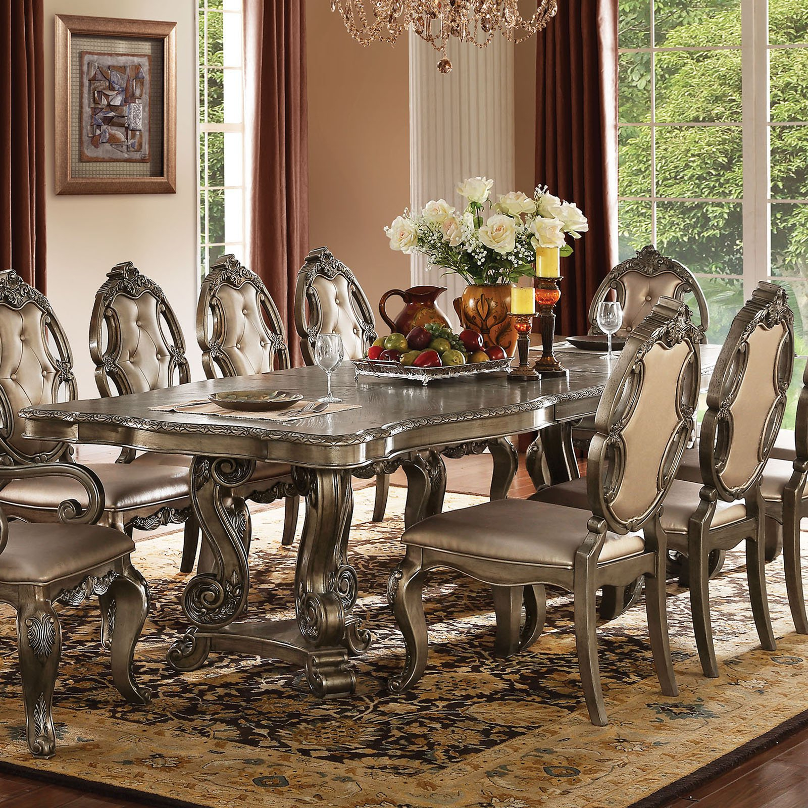 Most Recent Acme Furniture Ragenardus Extension Dining Table In  (View 11 of 25)