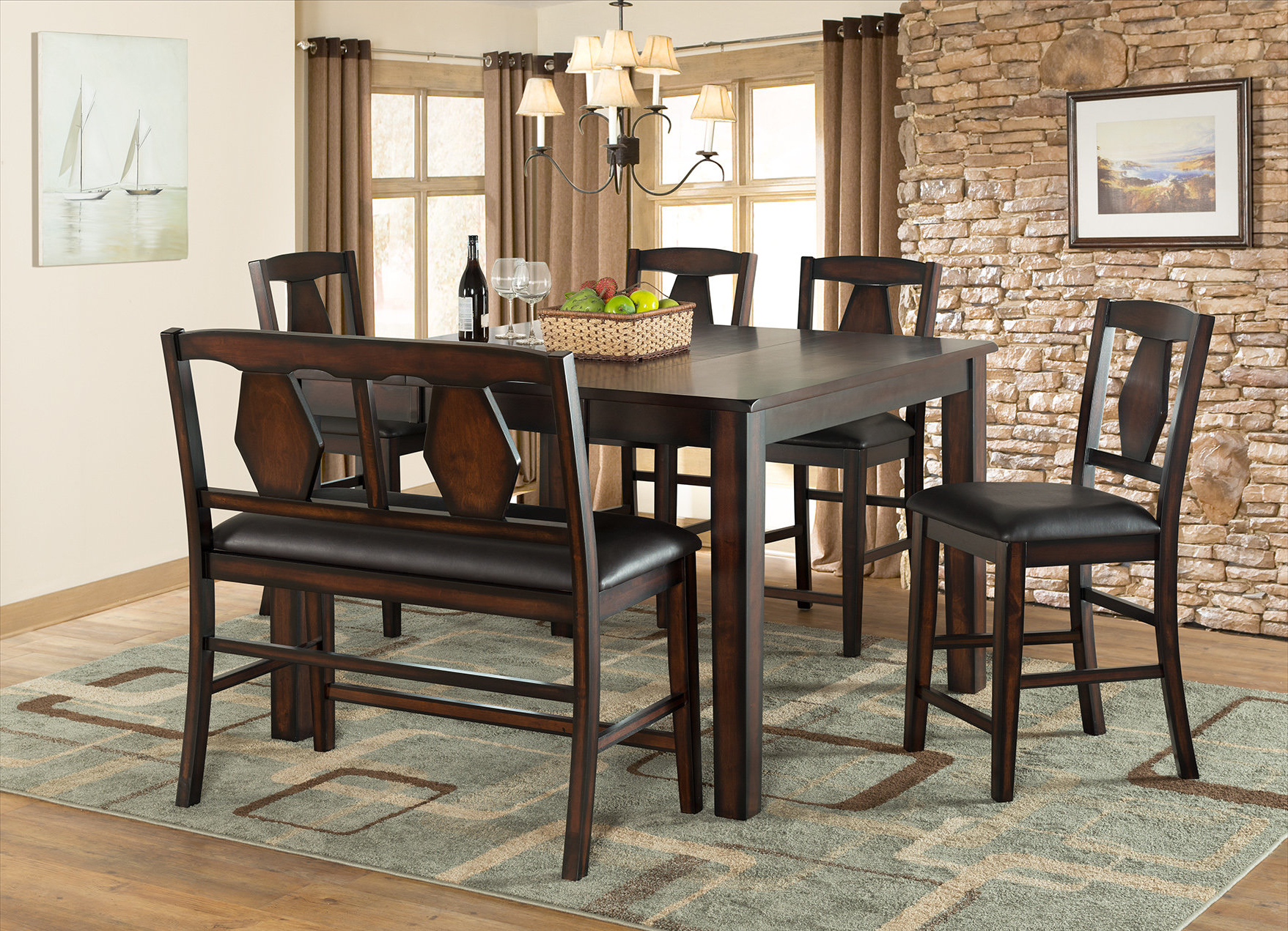 Most Recent Biggs 5 Piece Counter Height Solid Wood Dining Sets (Set Of 5) In Vilohomeinc (View 6 of 25)