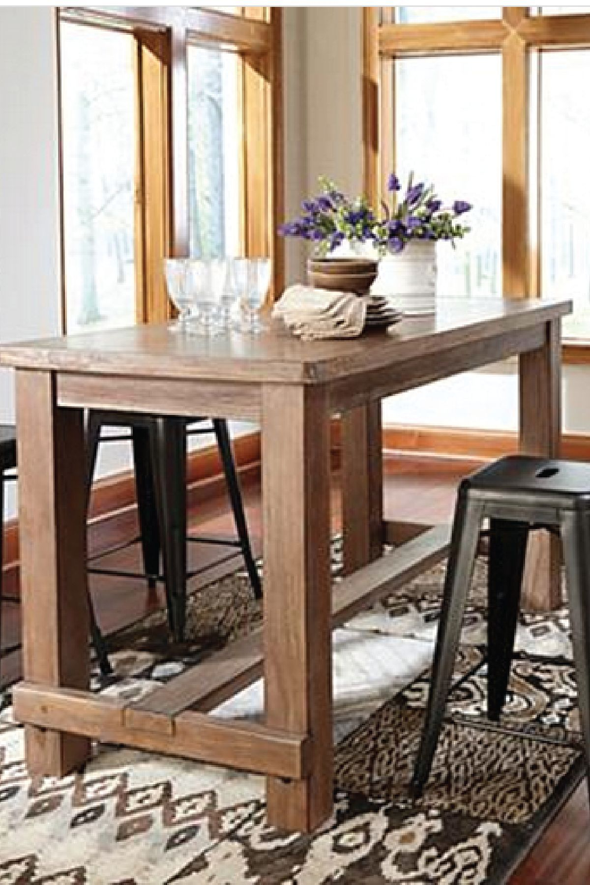 Most Recent Bring This Counter Height Dining Room Table Into Your Home For A Inside Northwoods 3 Piece Dining Sets (View 11 of 25)