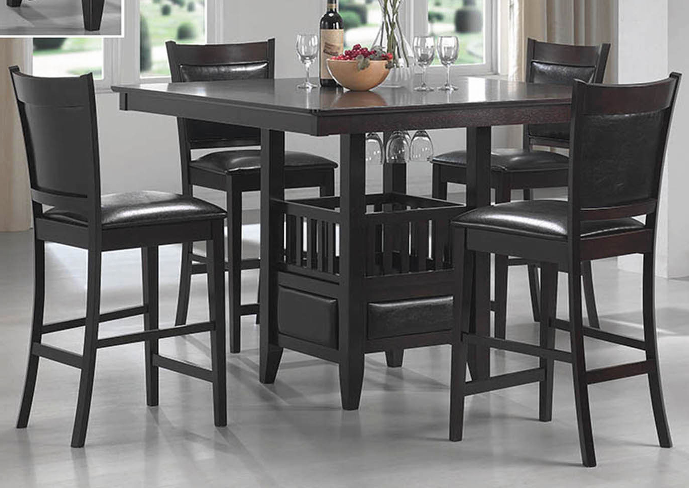 Most Recent Dream Decor – Furniture – Springfield – Ma Jaden Cappuccino Counter In Springfield 3 Piece Dining Sets (View 8 of 25)