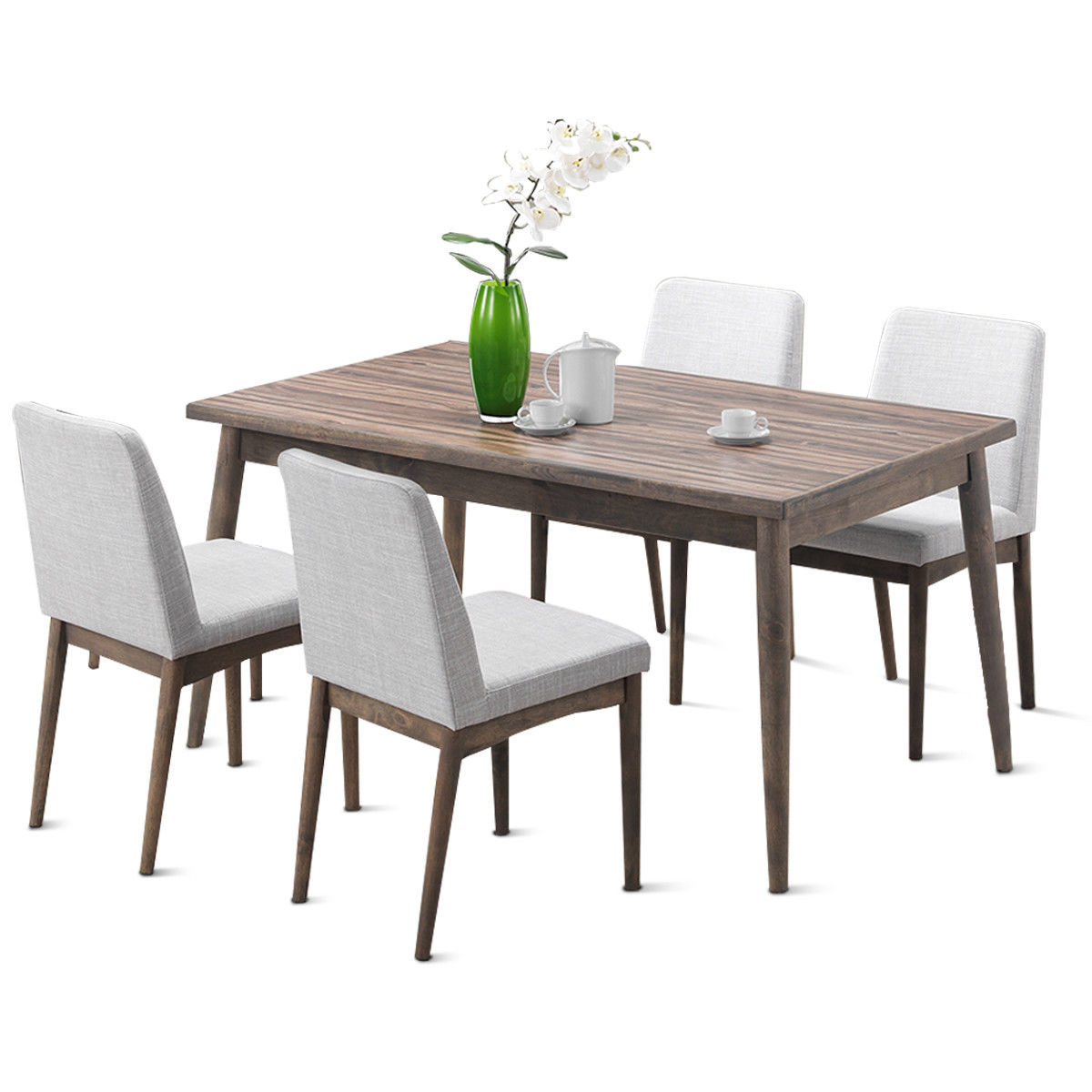 Most Recent Liles 5 Piece Breakfast Nook Dining Sets Intended For Easterling 5 Piece Dining Set (View 21 of 25)