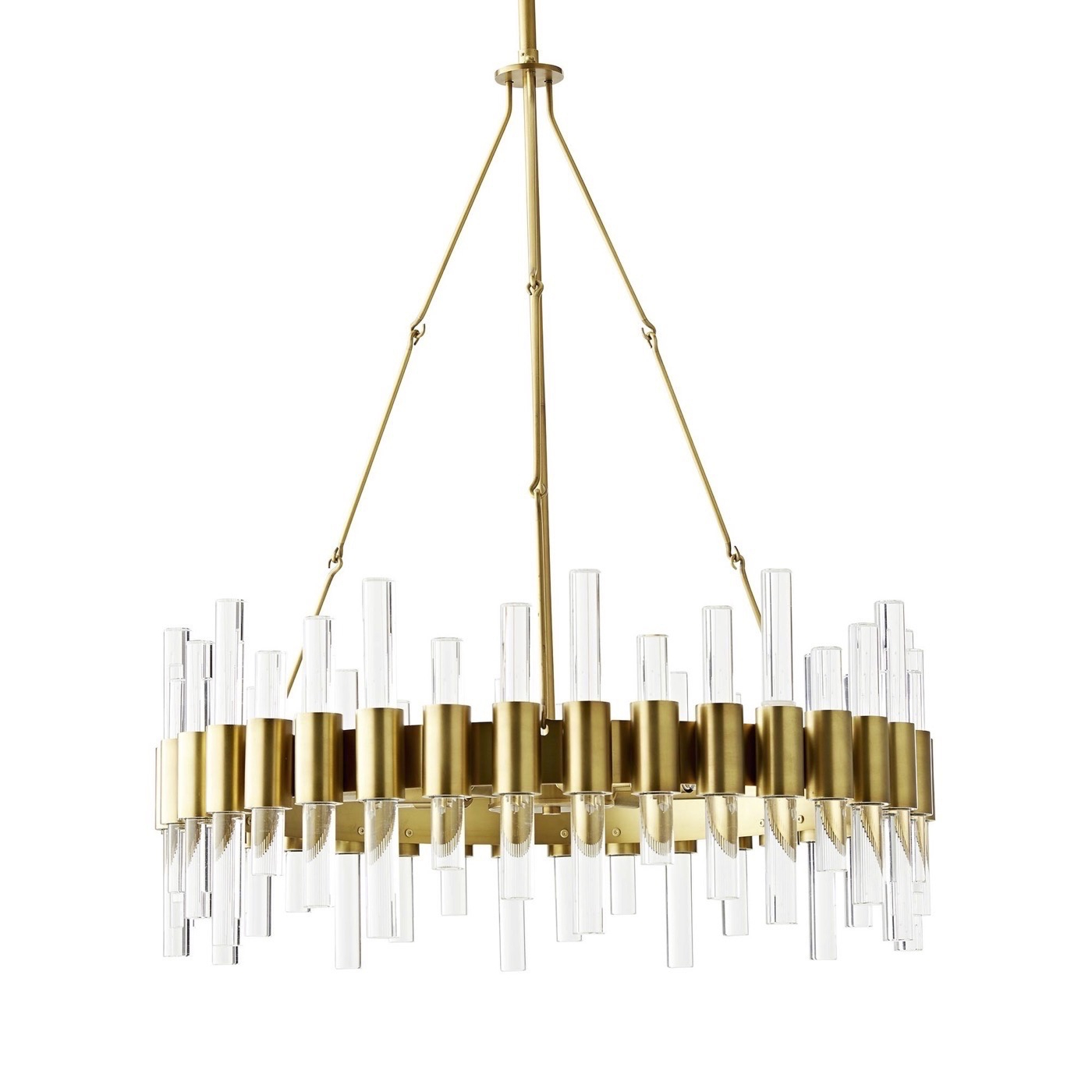 Most Recent Miskell 5 Piece Dining Sets Regarding Miskell Brass & Lucite Chandelier (View 19 of 25)