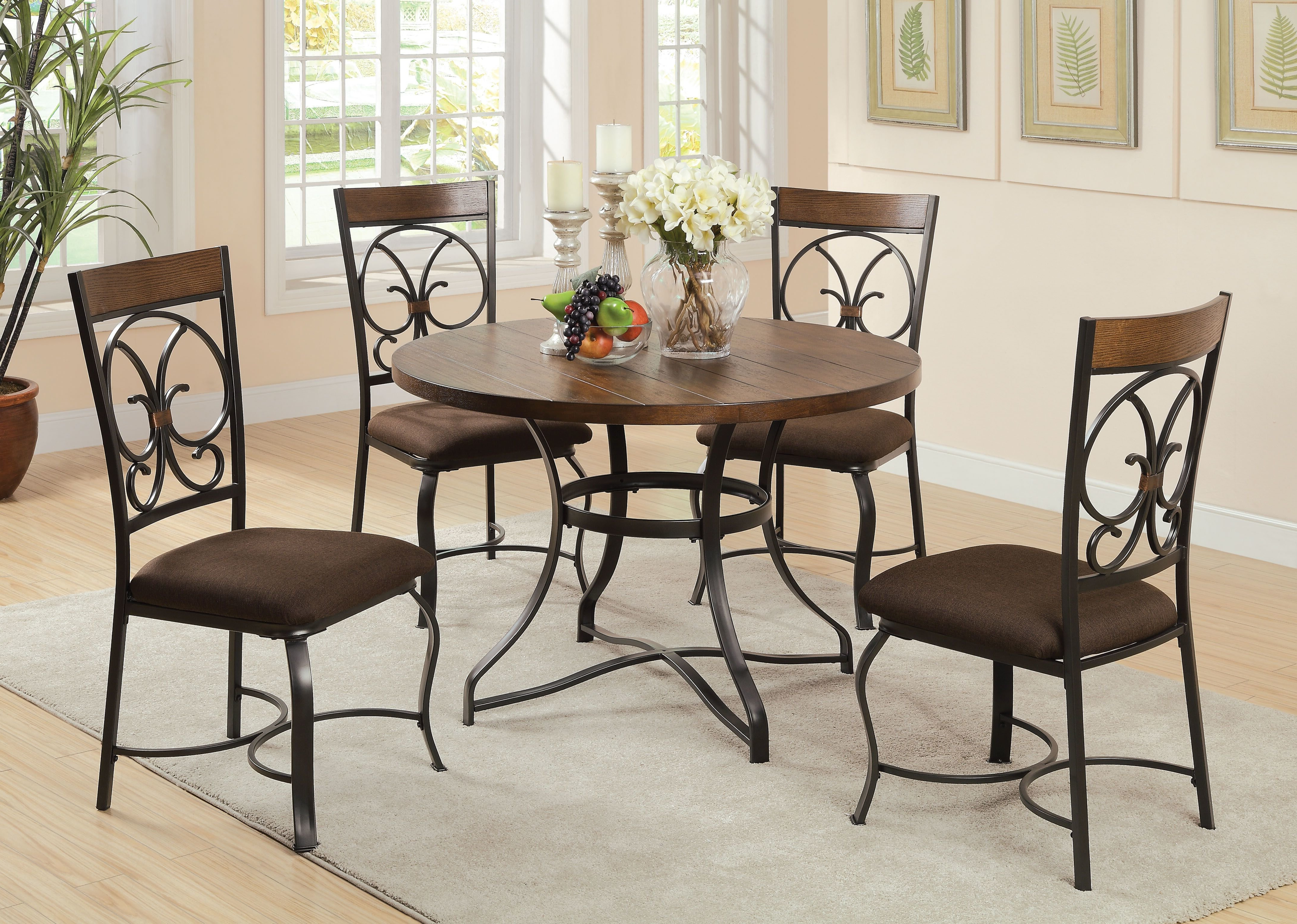 Most Recent Pattonsburg 5 Piece Dining Sets Throughout Fleur De Lis Living Anthonyville 5 Piece Dining Set (View 11 of 25)