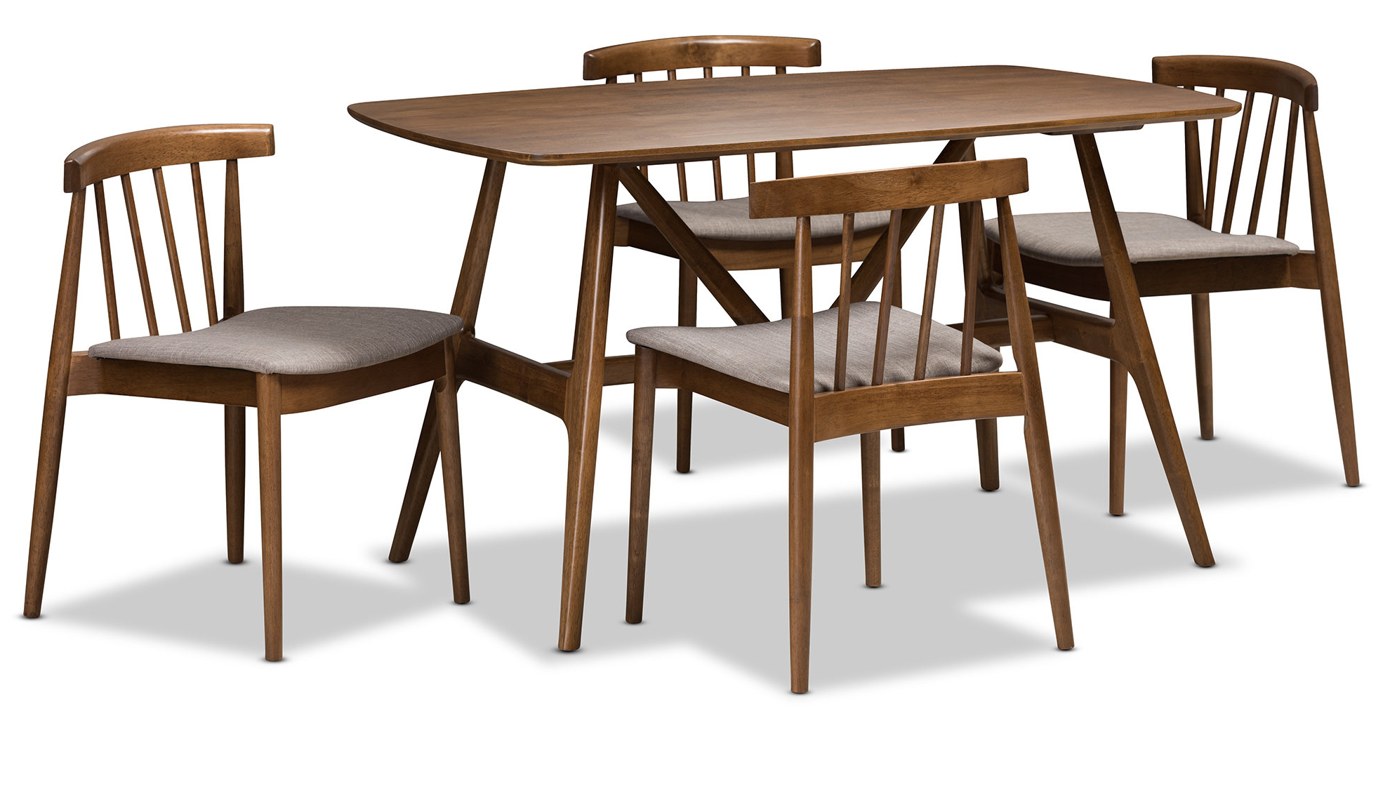 Most Recently Released 5 Piece Breakfast Nook Dining Sets In George Oliver Watkin Mid Century Modern 5 Piece Breakfast Nook (View 15 of 25)