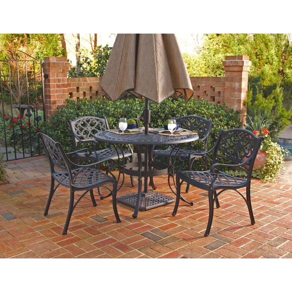 Most Recently Released Aria 5 Piece Dining Sets With Regard To Biscayne – Patio Dining Sets – Patio Dining Furniture – The Home Depot (View 15 of 25)