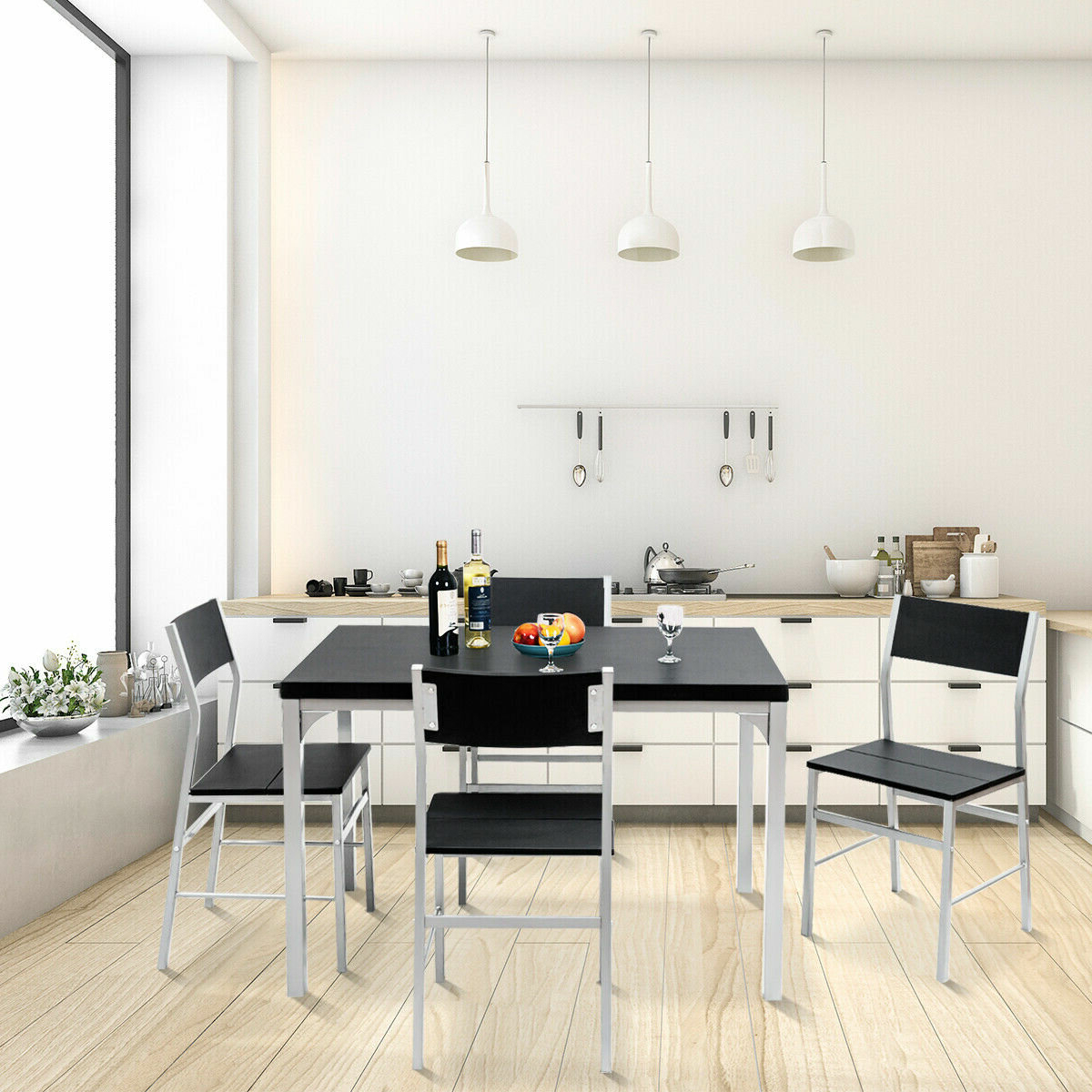 Most Recently Released Conover 5 Piece Dining Sets Within Ebern Designs Catalina 5 Piece Dining Set (View 15 of 25)