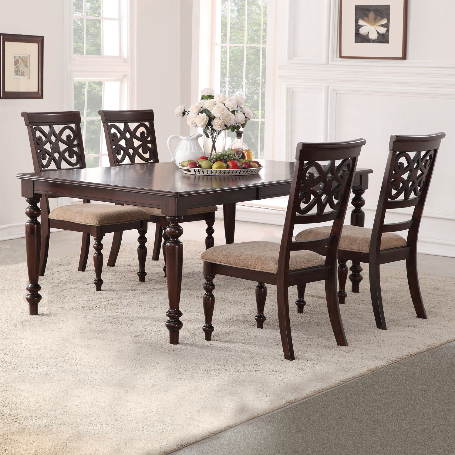 Most Recently Released Darby Home Co Laconia 5 Piece Extendable Dining Set & Reviews (View 16 of 25)