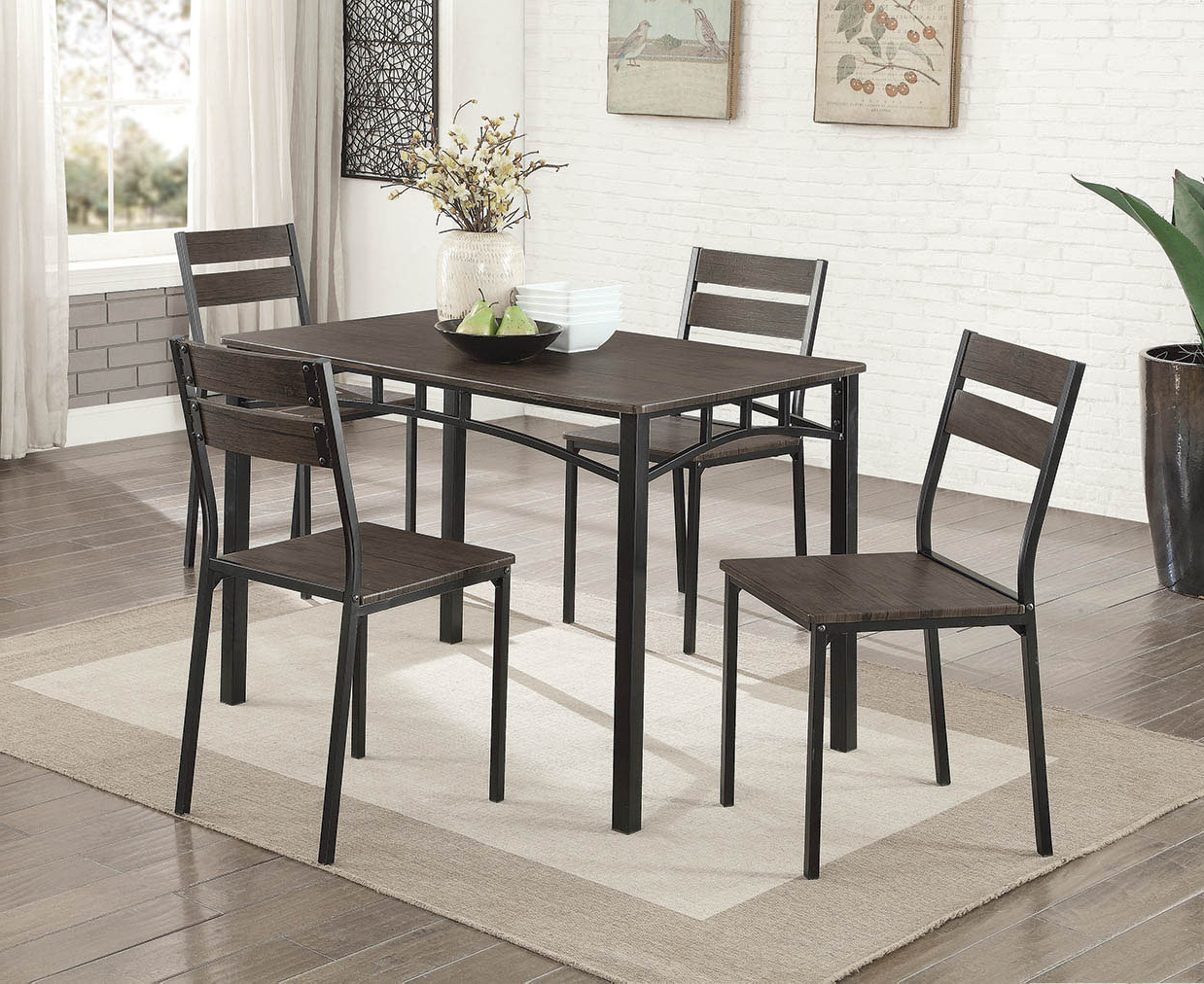 Most Recently Released Gracie Oaks Autberry 5 Piece Dining Set & Reviews (View 11 of 25)
