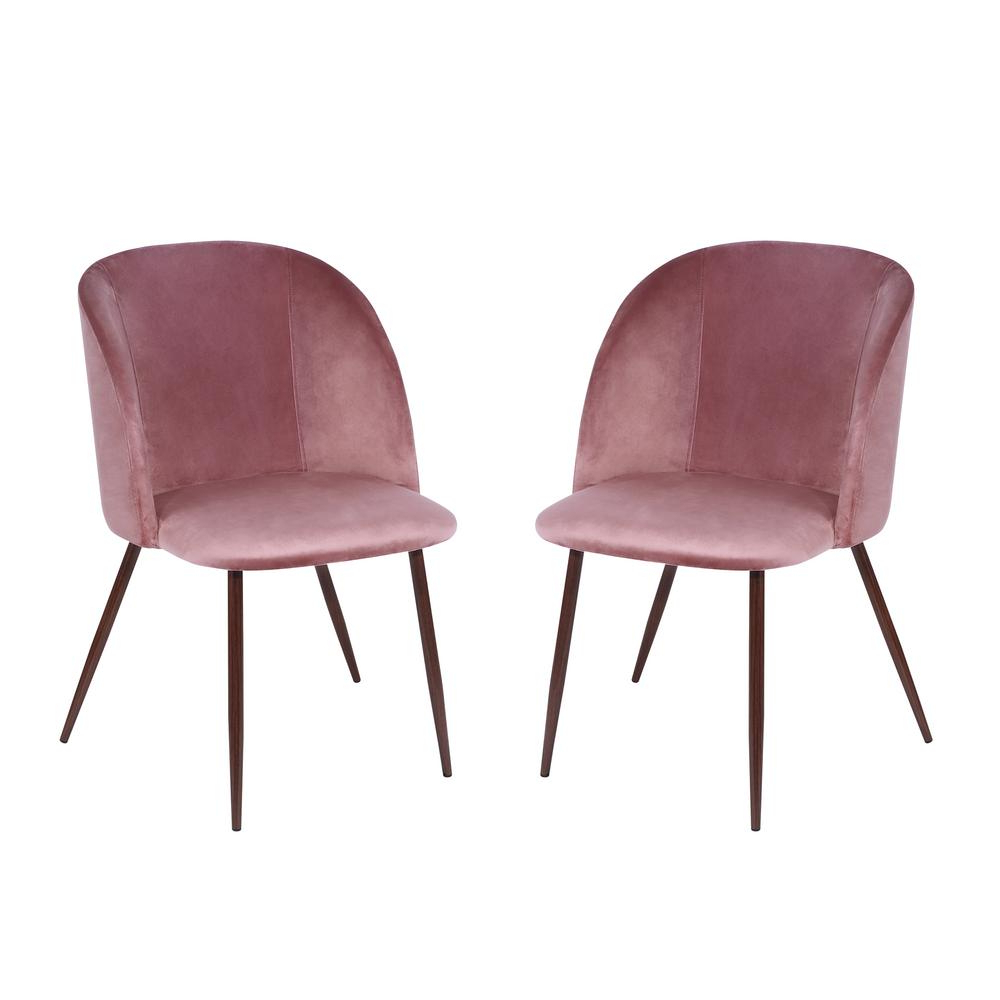 Most Recently Released Honoria 3 Piece Dining Sets Regarding Poly And Bark Kantwell Dusty Rose Velvet Dining Chair (Set Of 2) Hd (View 24 of 25)