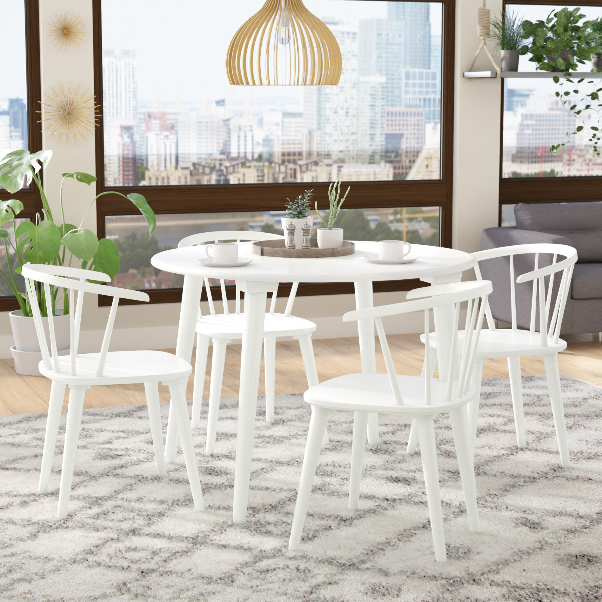Most Recently Released Langley Street Arielle 5 Piece Wood Dining Set (View 11 of 25)