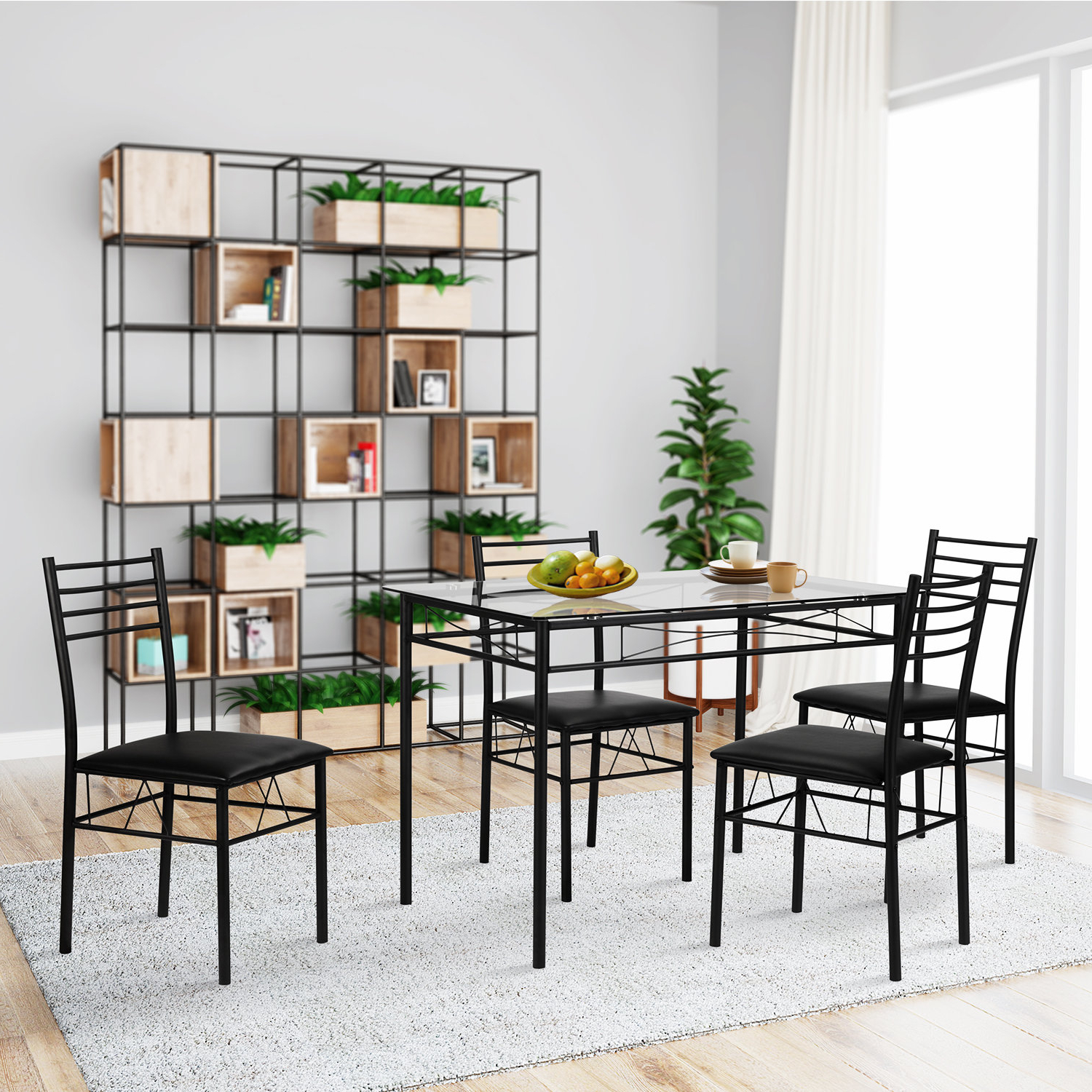 Most Recently Released Lightle 5 Piece Breakfast Nook Dining Sets Intended For Ebern Designs Lightle 5 Piece Breakfast Nook Dining Set (View 2 of 25)