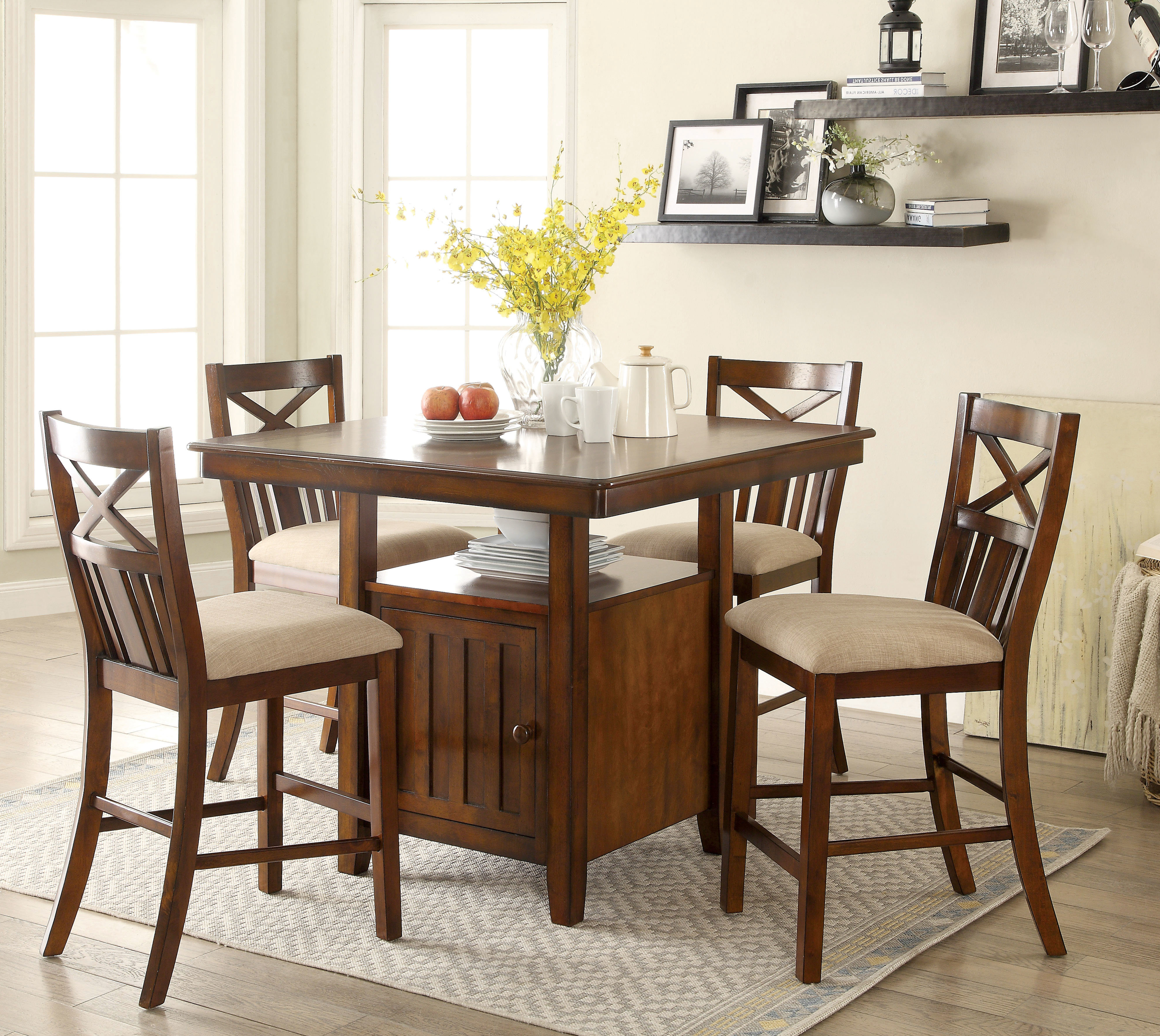 Most Recently Released Loon Peak Bryson 5 Piece Dining Set (View 3 of 25)