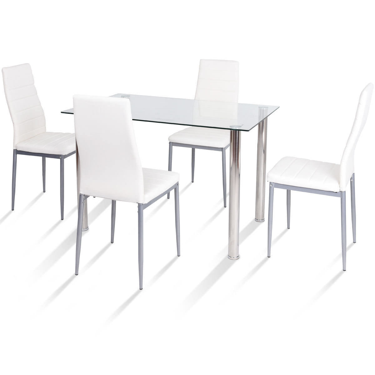 Most Recently Released Orren Ellis Travon 5 Piece Dining Set & Reviews (View 12 of 25)