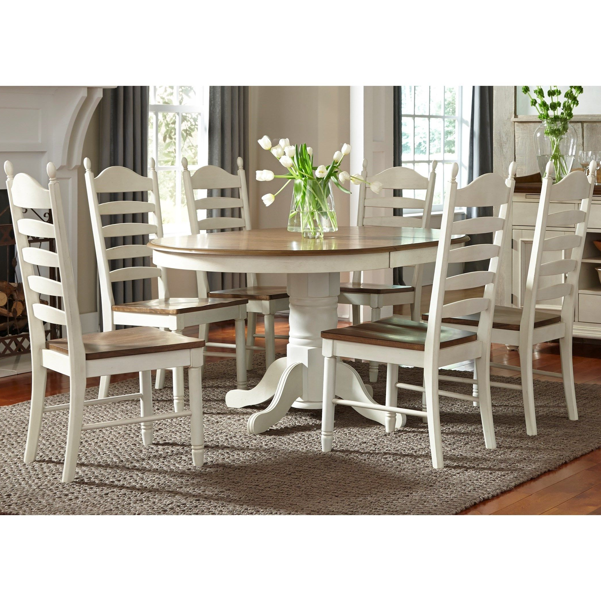 Most Recently Released Valladares 3 Piece Pub Table Sets With Regard To Springfield Dining 7 Piece Pedestal Table & Chair Setliberty (View 11 of 25)