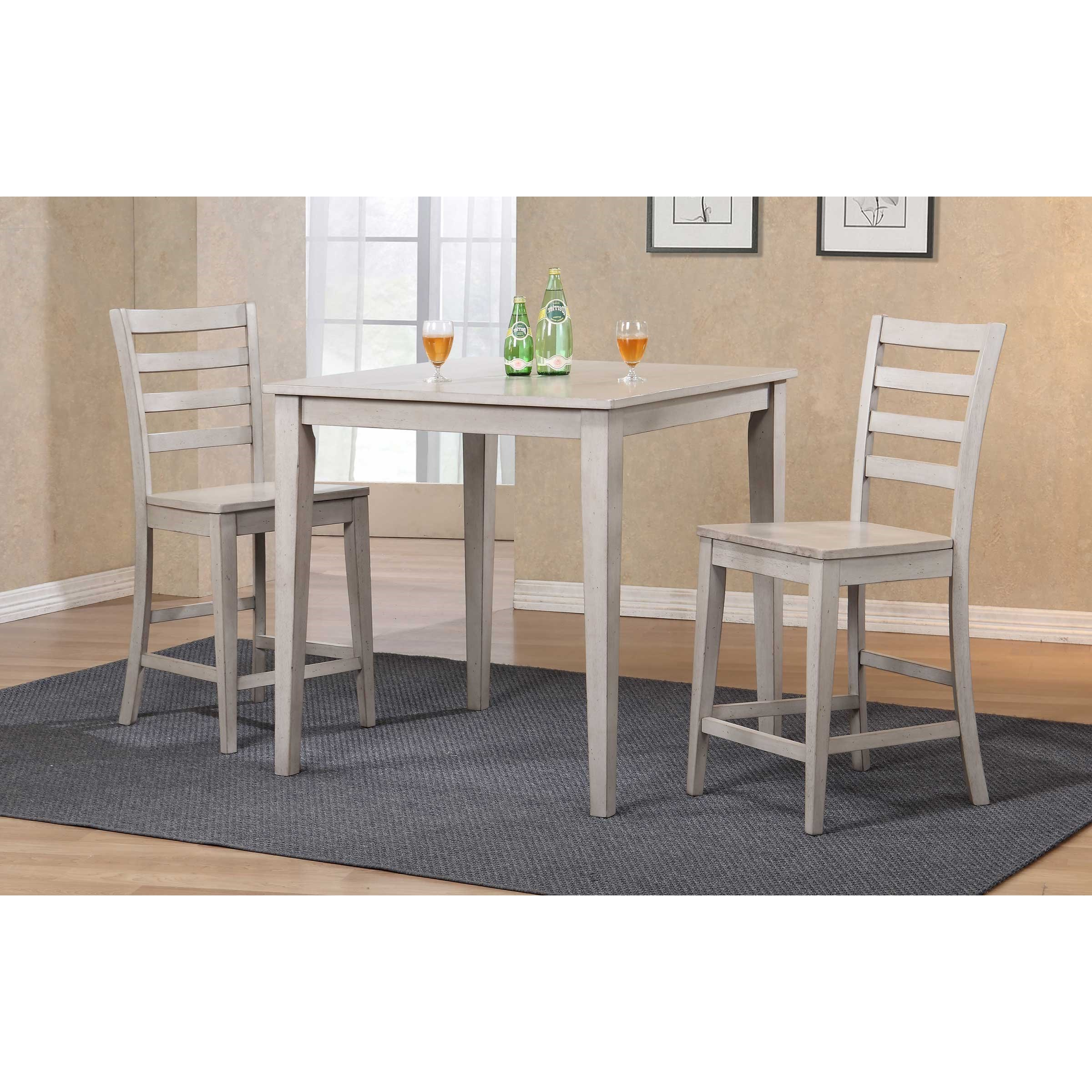 Most Up To Date 3 Piece Dining Sets For Winners Only Carmel 3 Piece Counter Height Dining Set (View 15 of 25)