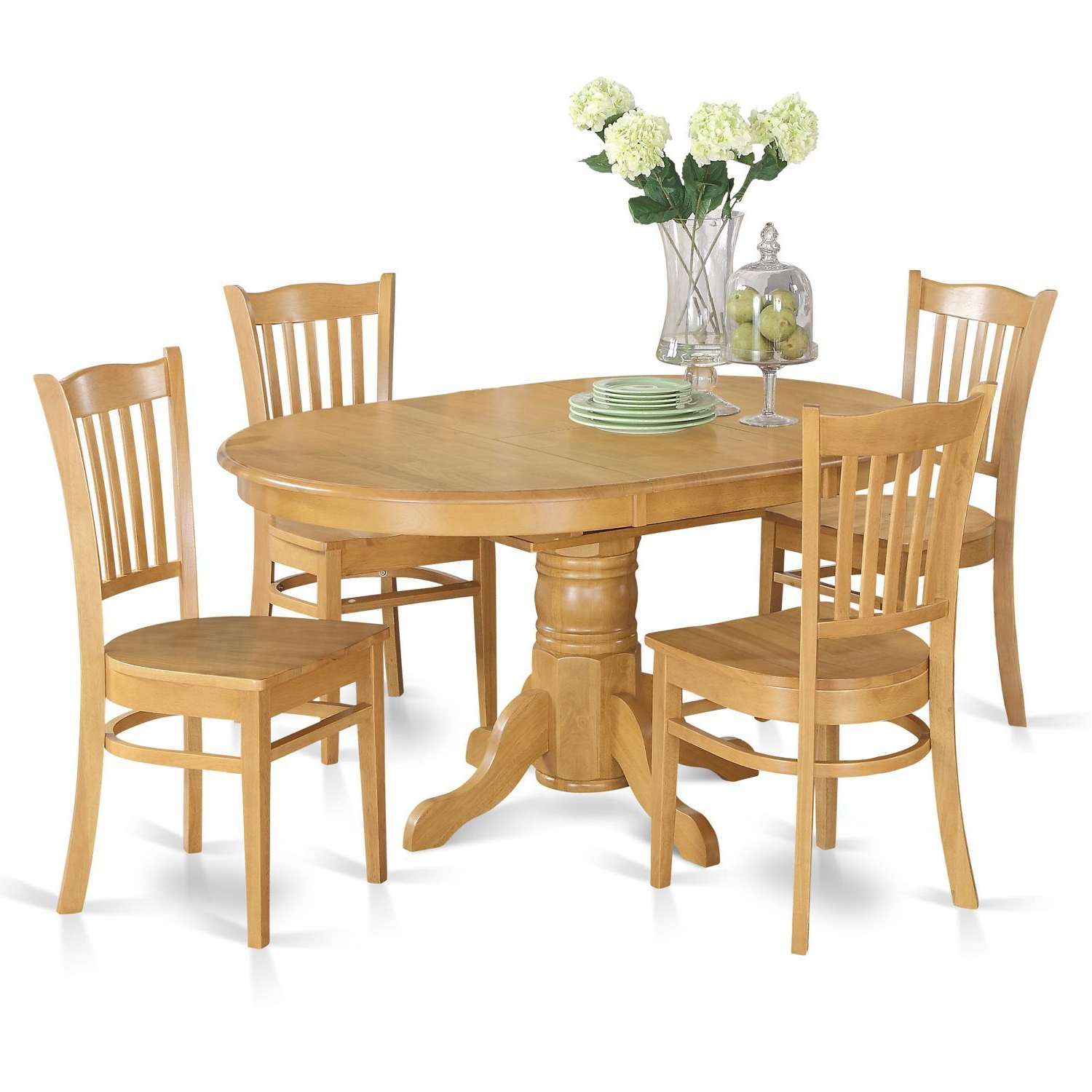 Most Up To Date 5 Piece Dining Table Set For 4 Table With Leaf And 4 Dining Chairs Within Goodman 5 Piece Solid Wood Dining Sets (Set Of 5) (View 15 of 25)