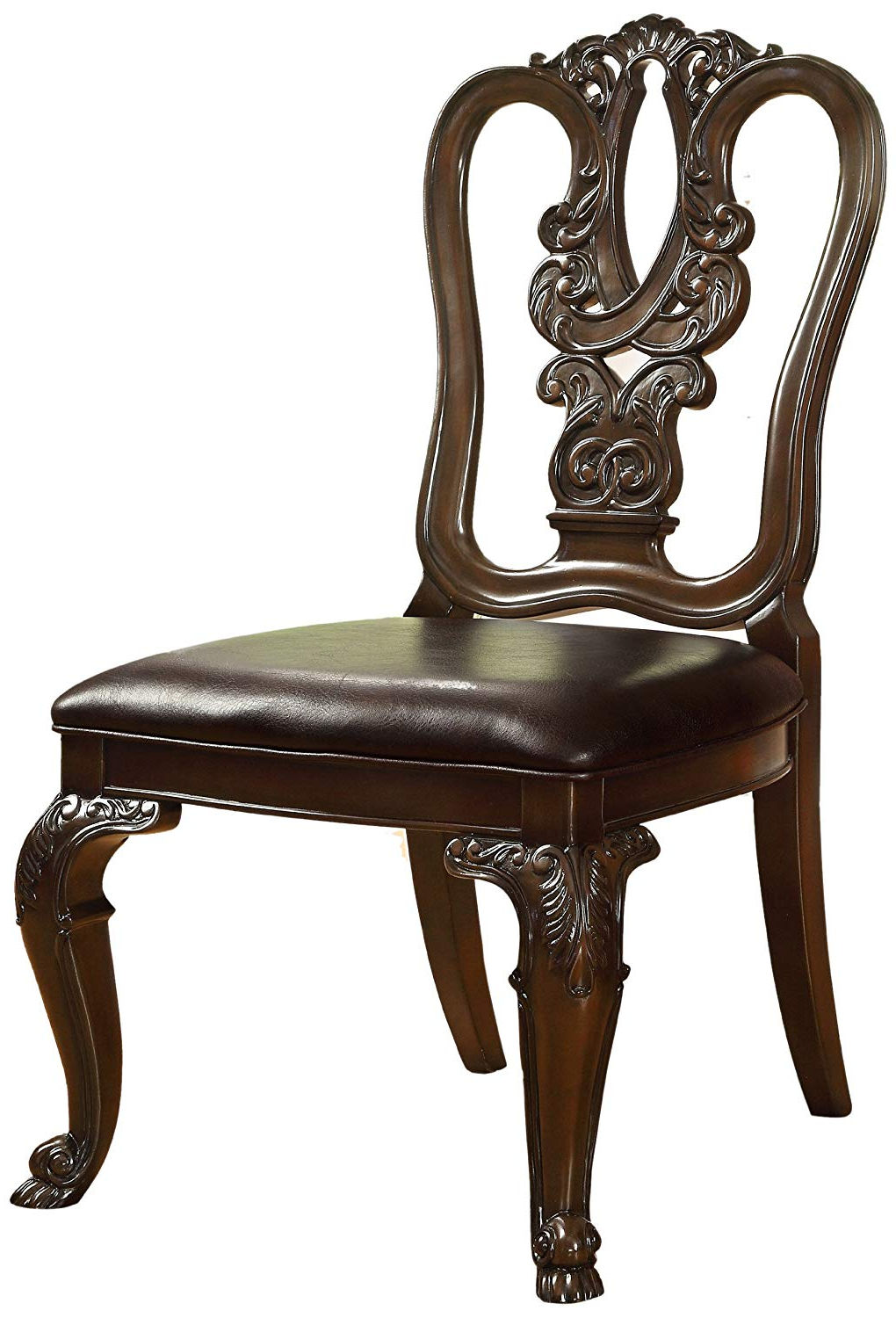 Most Up To Date Amazon – Furniture Of America Linette Wooden Dining Side Chair Within Linette 5 Piece Dining Table Sets (View 20 of 25)