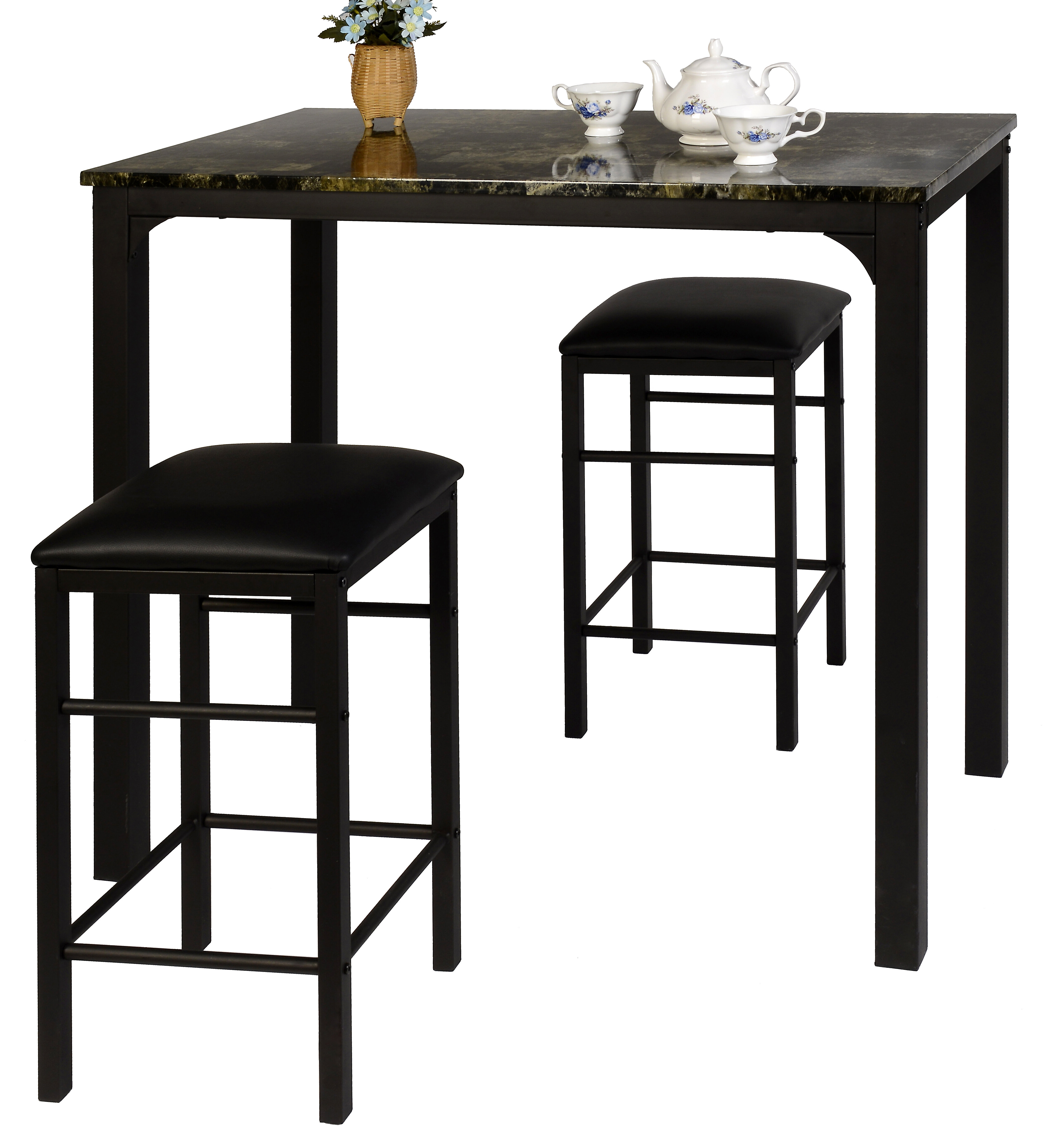 Most Up To Date Ebern Designs Lillard 3 Piece Breakfast Nook Dining Set (View 4 of 25)